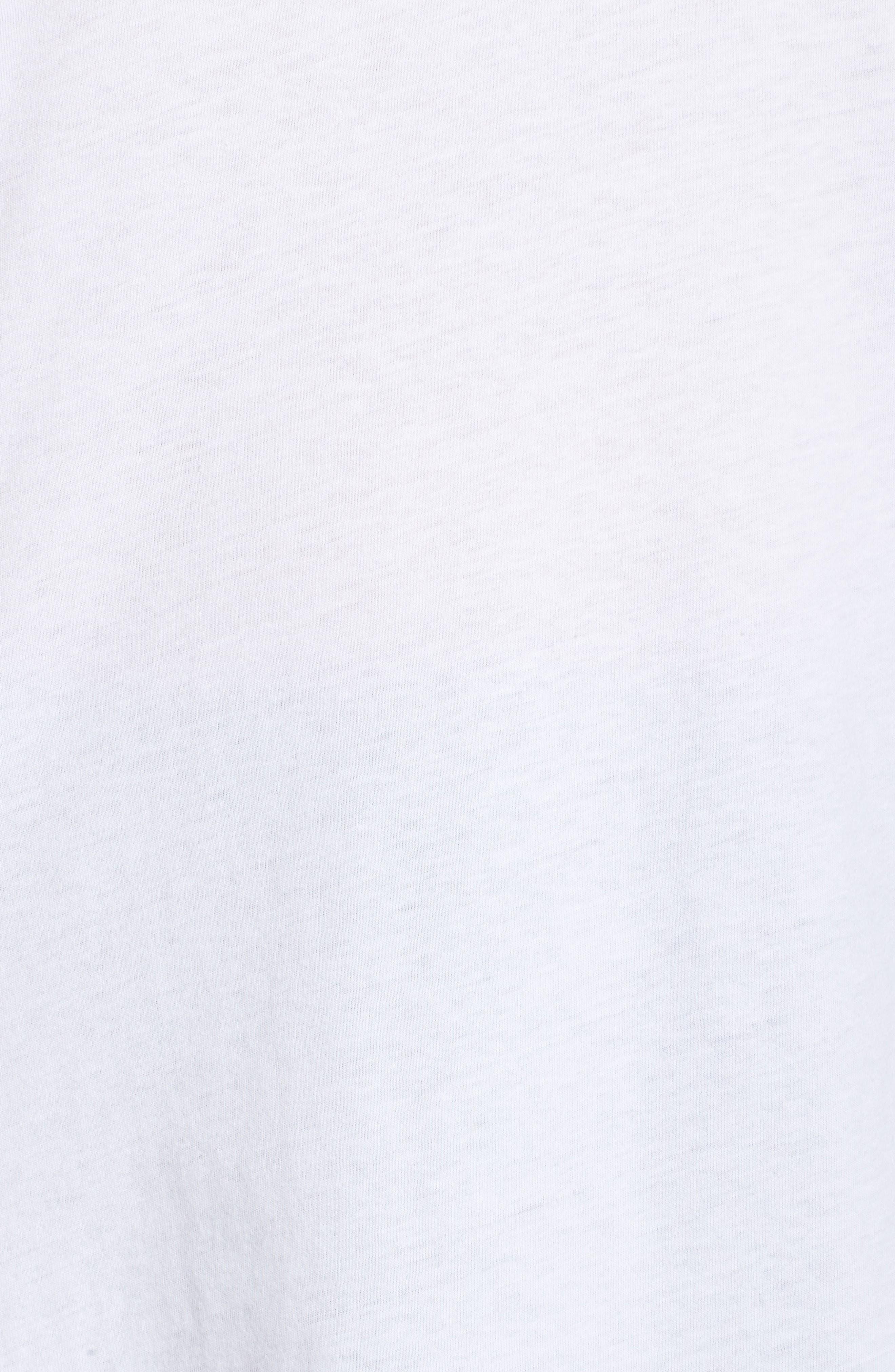 Varsity Stripe Cotton Tee,                             Alternate thumbnail 11, color,                             WHITE- BURGUNDY FIG COMBO