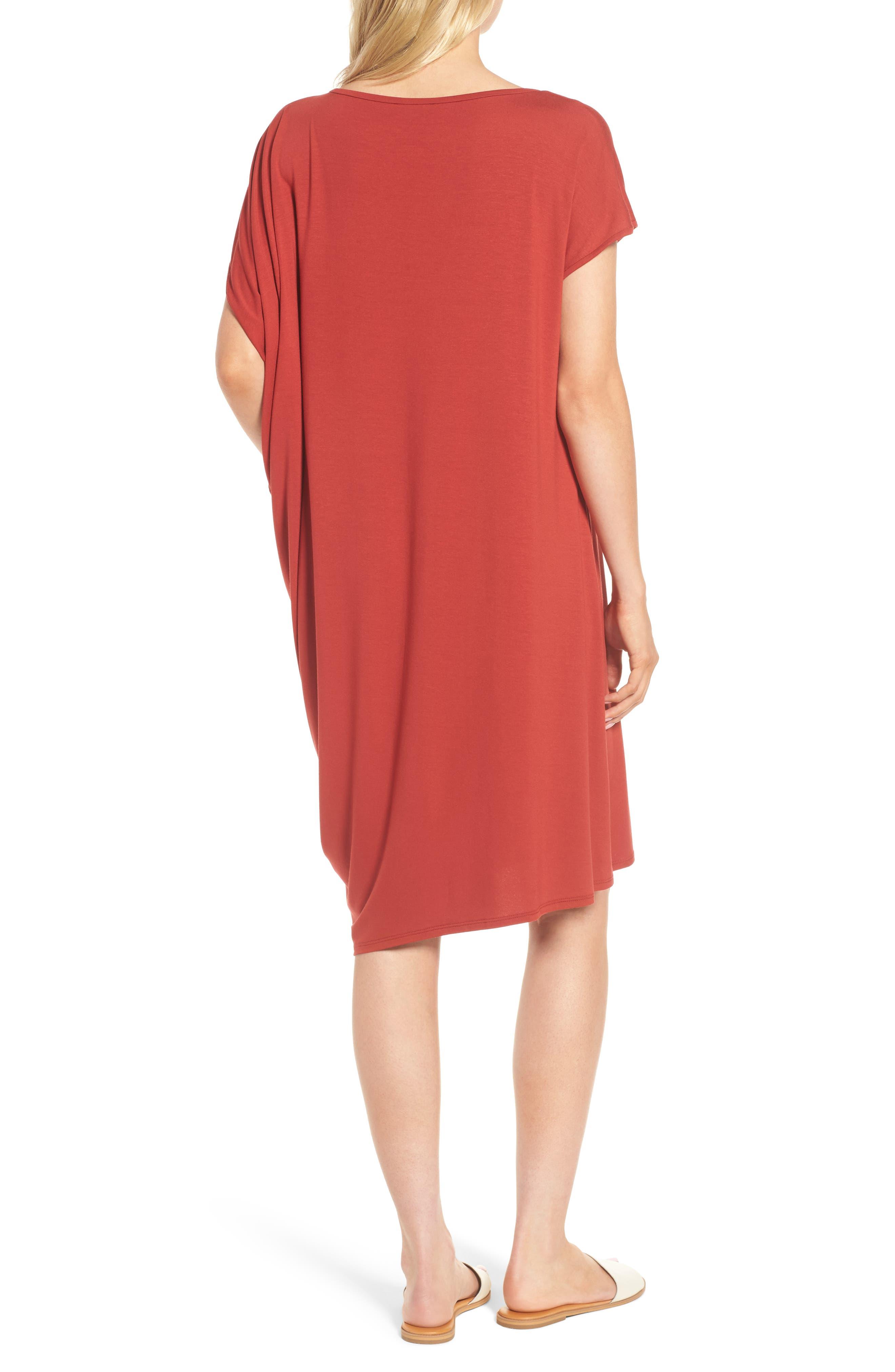 Asymmetrical Jersey Shift Dress,                             Alternate thumbnail 8, color,