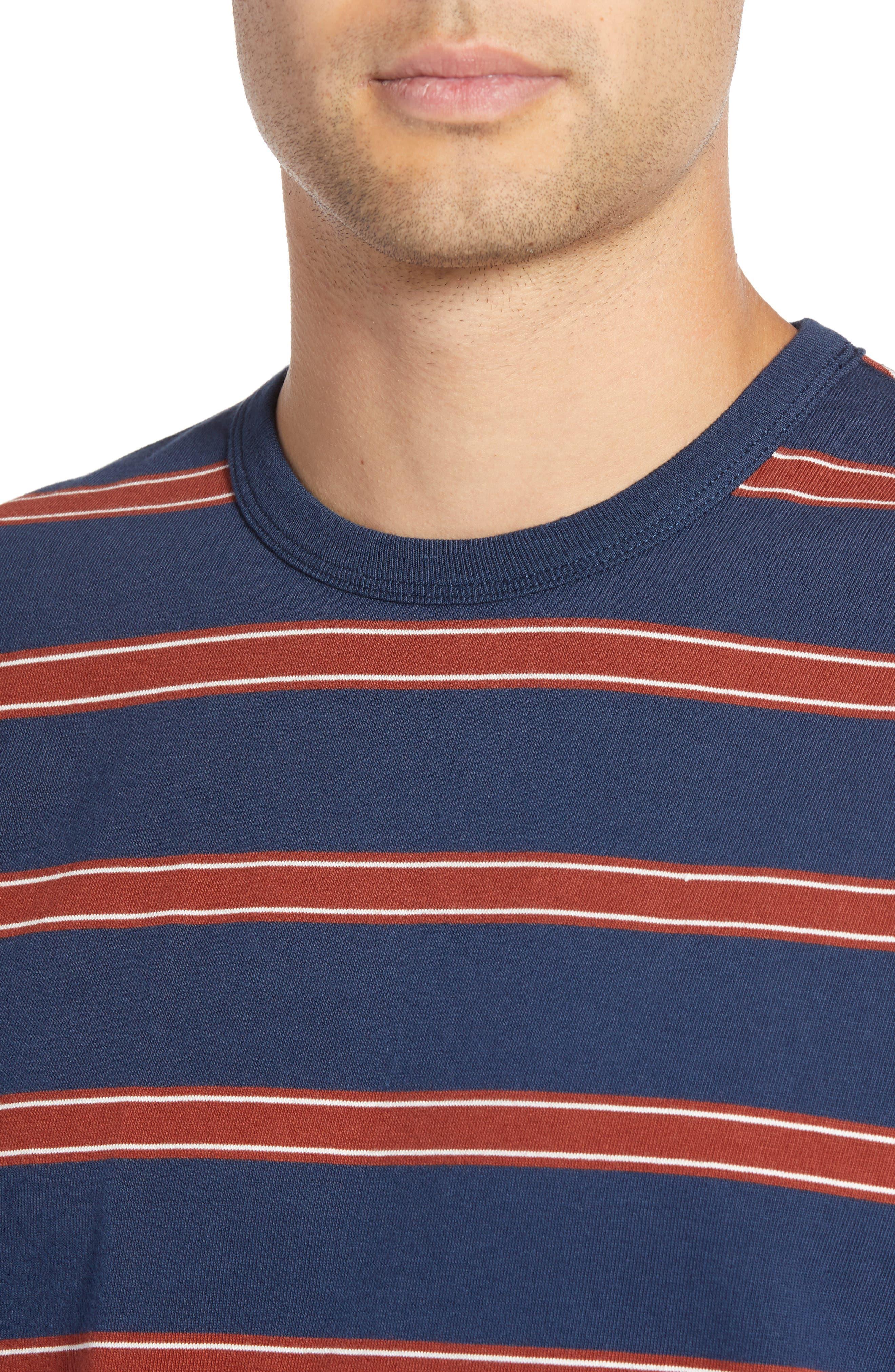 Watson Striped Long Sleeve T-Shirt,                             Alternate thumbnail 4, color,                             DRESS BLUES