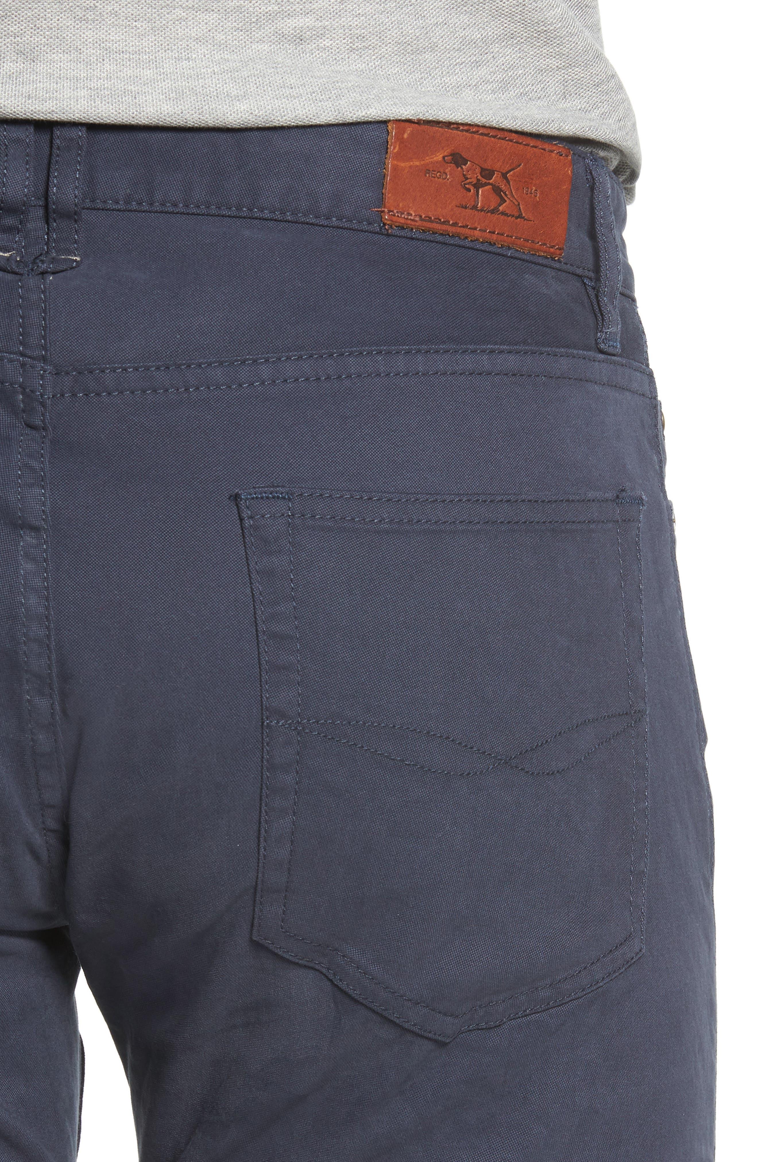 Fencourt Regular Fit Straight Leg Jeans,                             Alternate thumbnail 4, color,                             MIDNIGHT