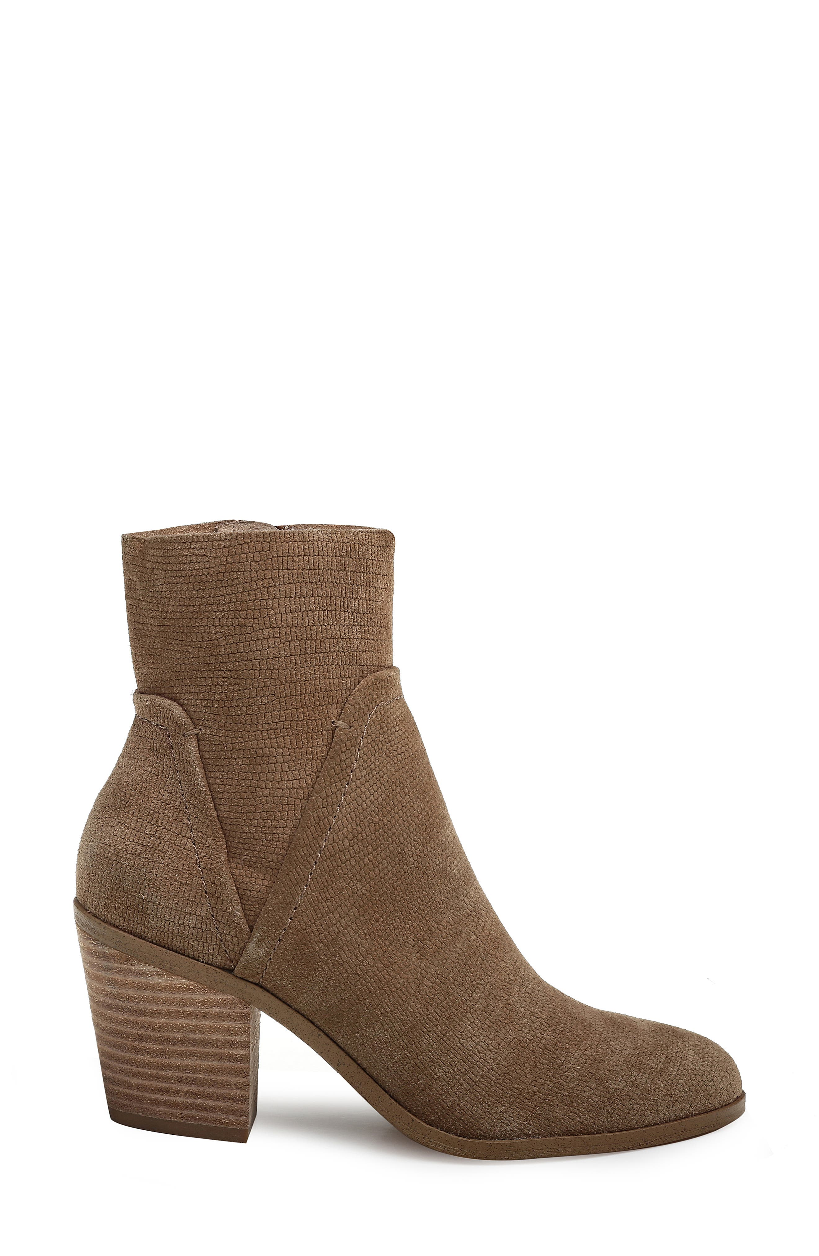 Cherie Bootie,                             Alternate thumbnail 3, color,                             OAT EMBOSSED SUEDE