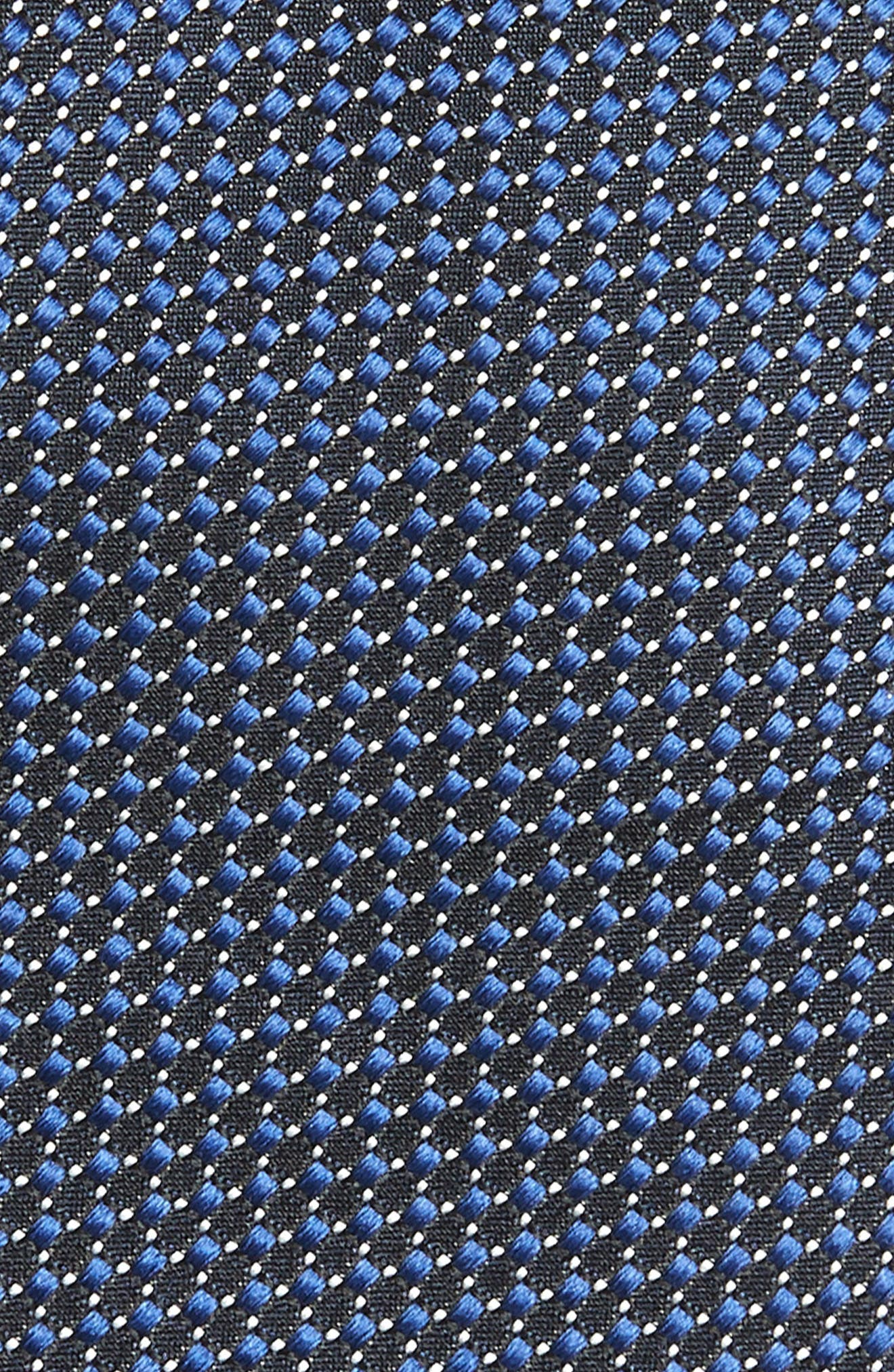 Dot Silk Tie,                             Alternate thumbnail 2, color,                             NAVY
