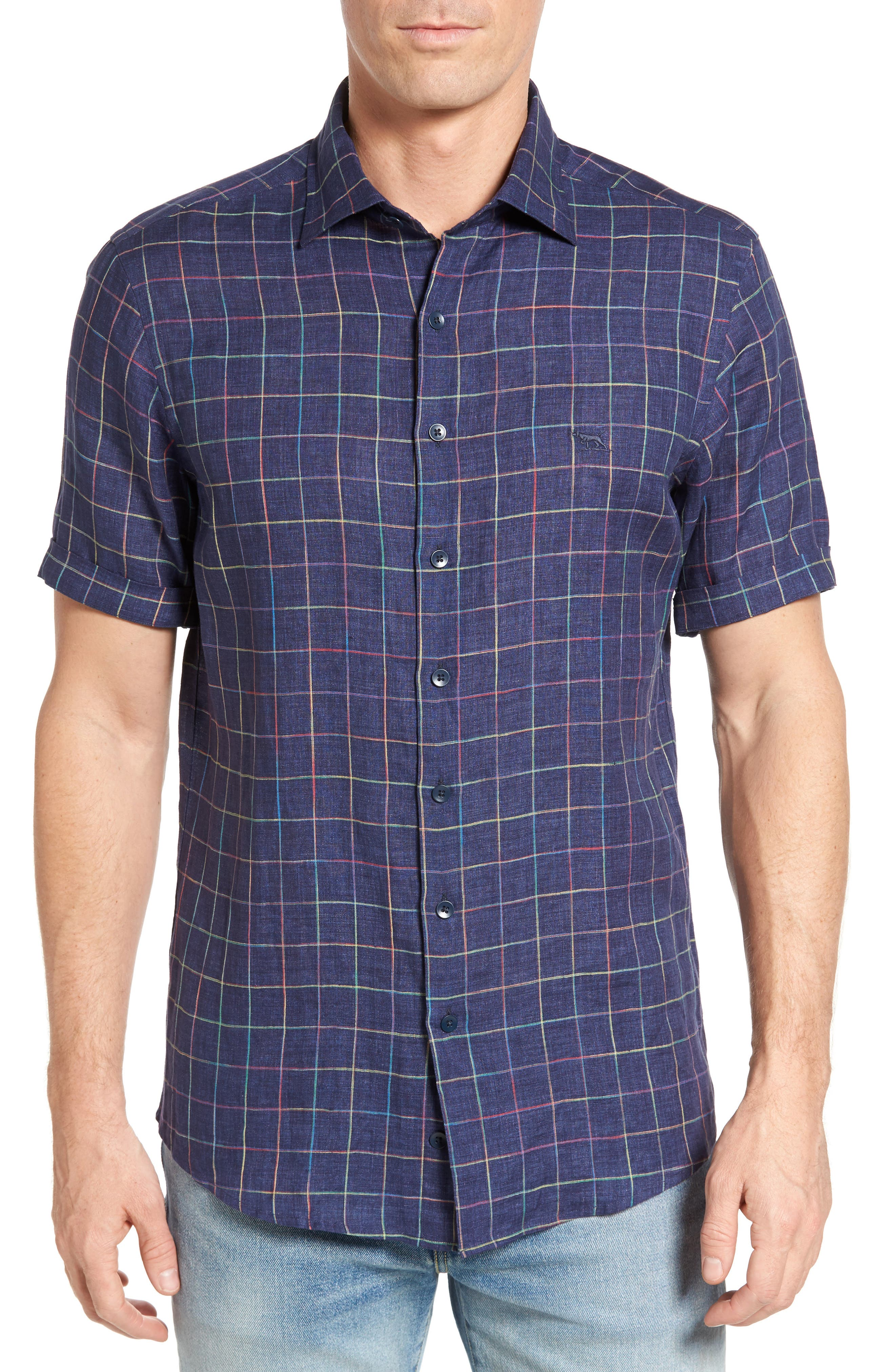 Savill Linen Blend Sport Shirt,                             Main thumbnail 1, color,                             410