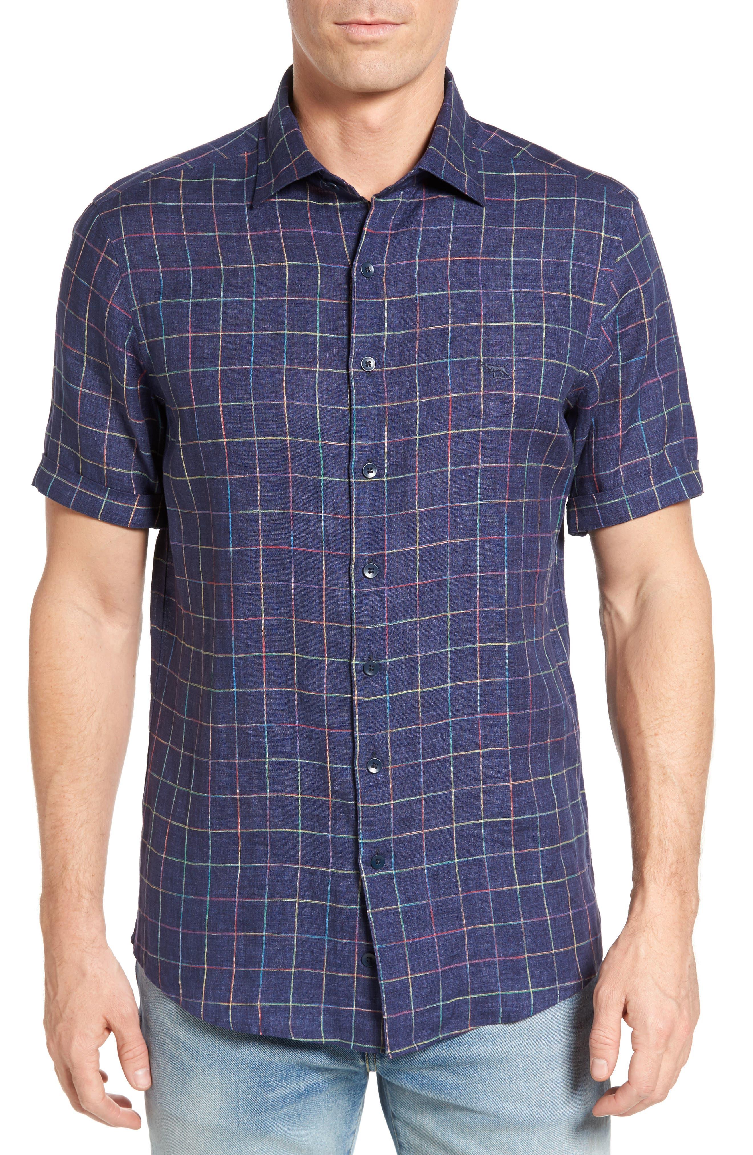 Savill Linen Blend Sport Shirt,                         Main,                         color, 410