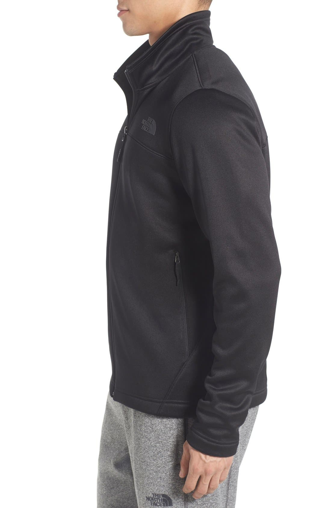 'Momentum' Fleece Jacket,                             Alternate thumbnail 3, color,                             001