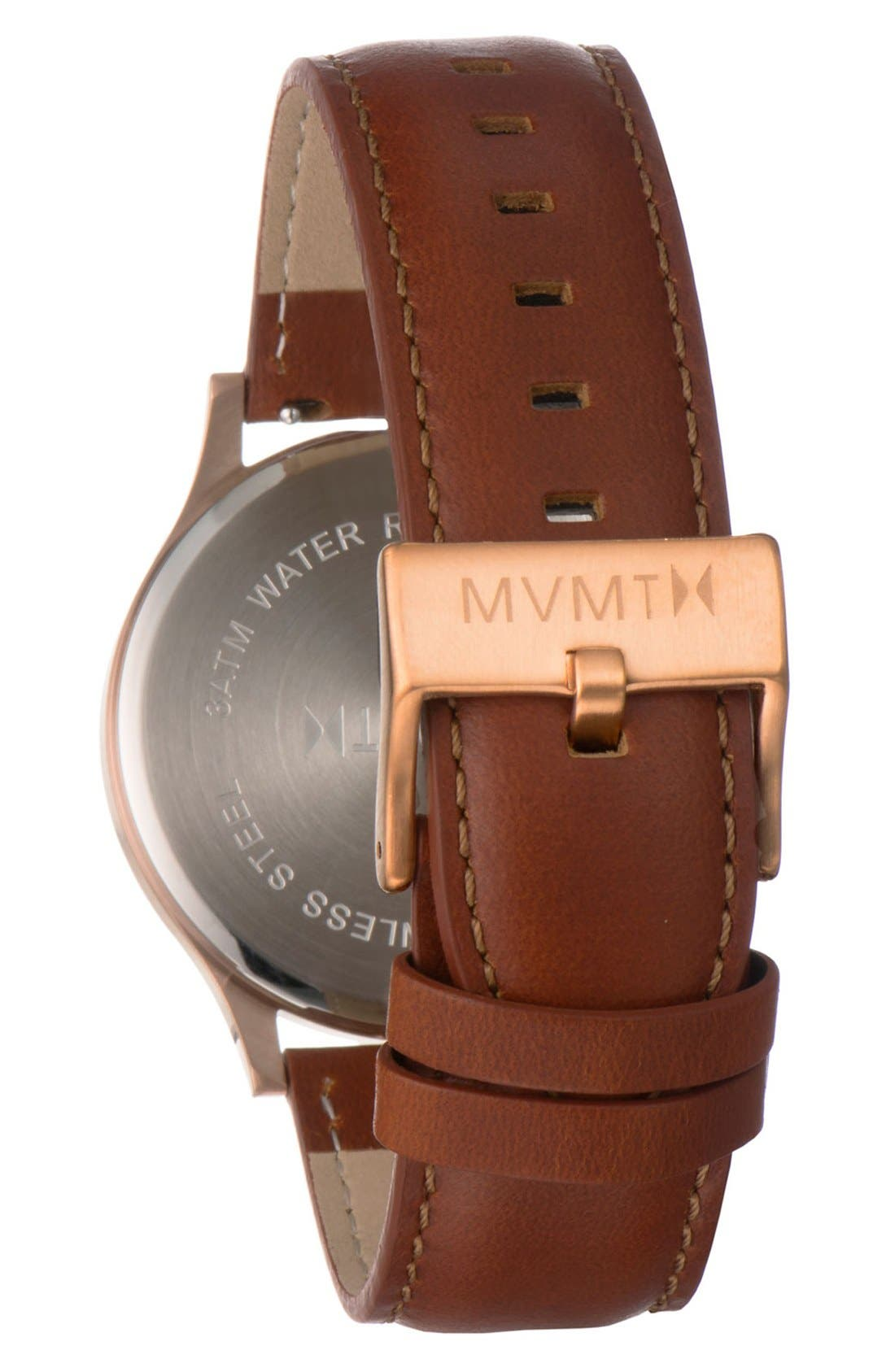 Leather Strap Watch, 40mm,                             Alternate thumbnail 2, color,