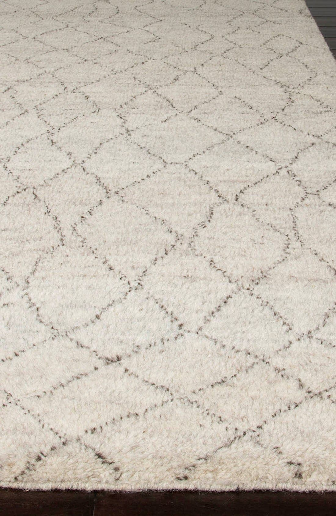 'Zola Irregular Lines' Wool Rug,                             Alternate thumbnail 2, color,                             IVORY/ BROWN