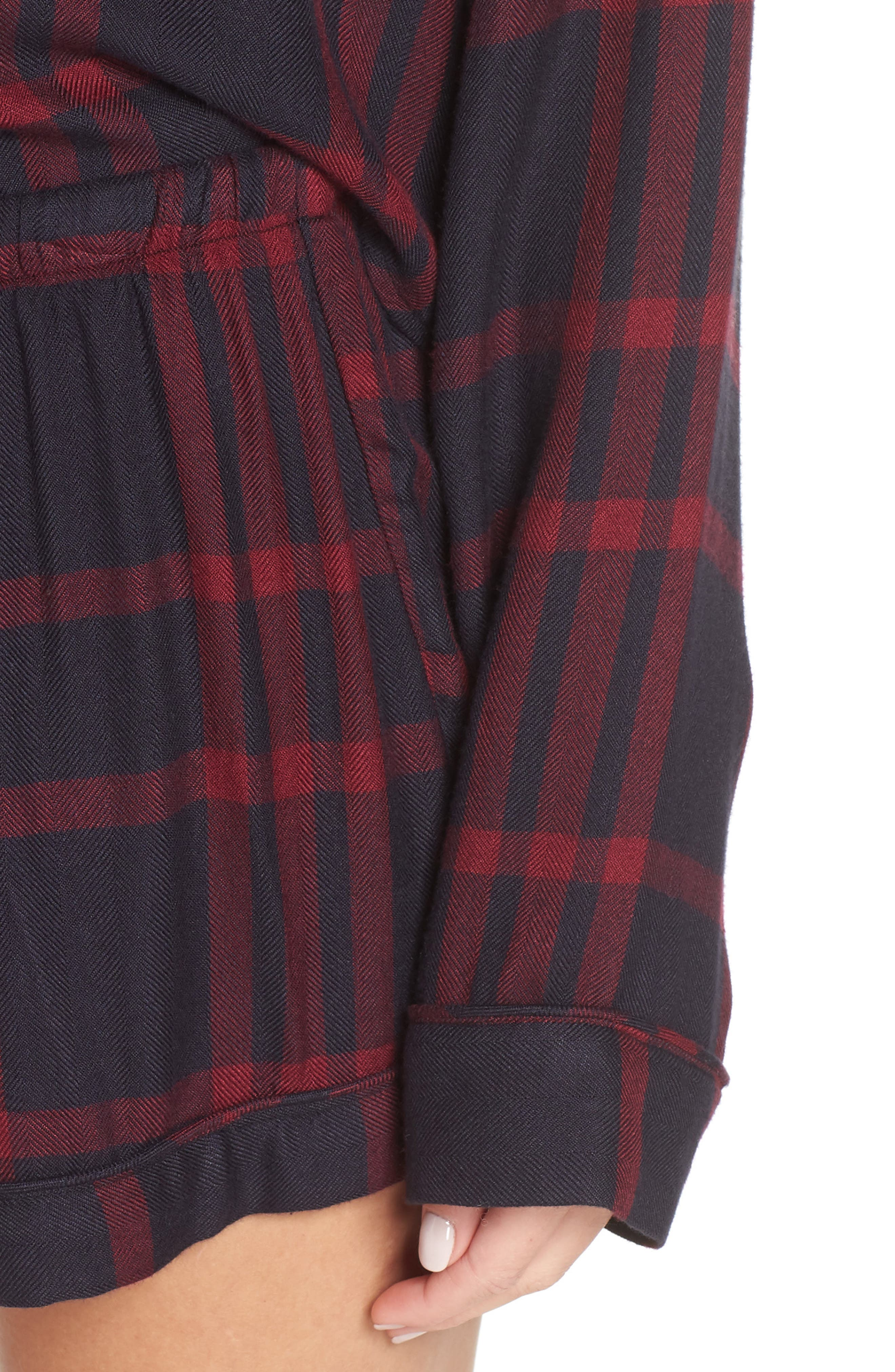 Short Pajamas,                             Alternate thumbnail 4, color,                             BLACK CHERRY