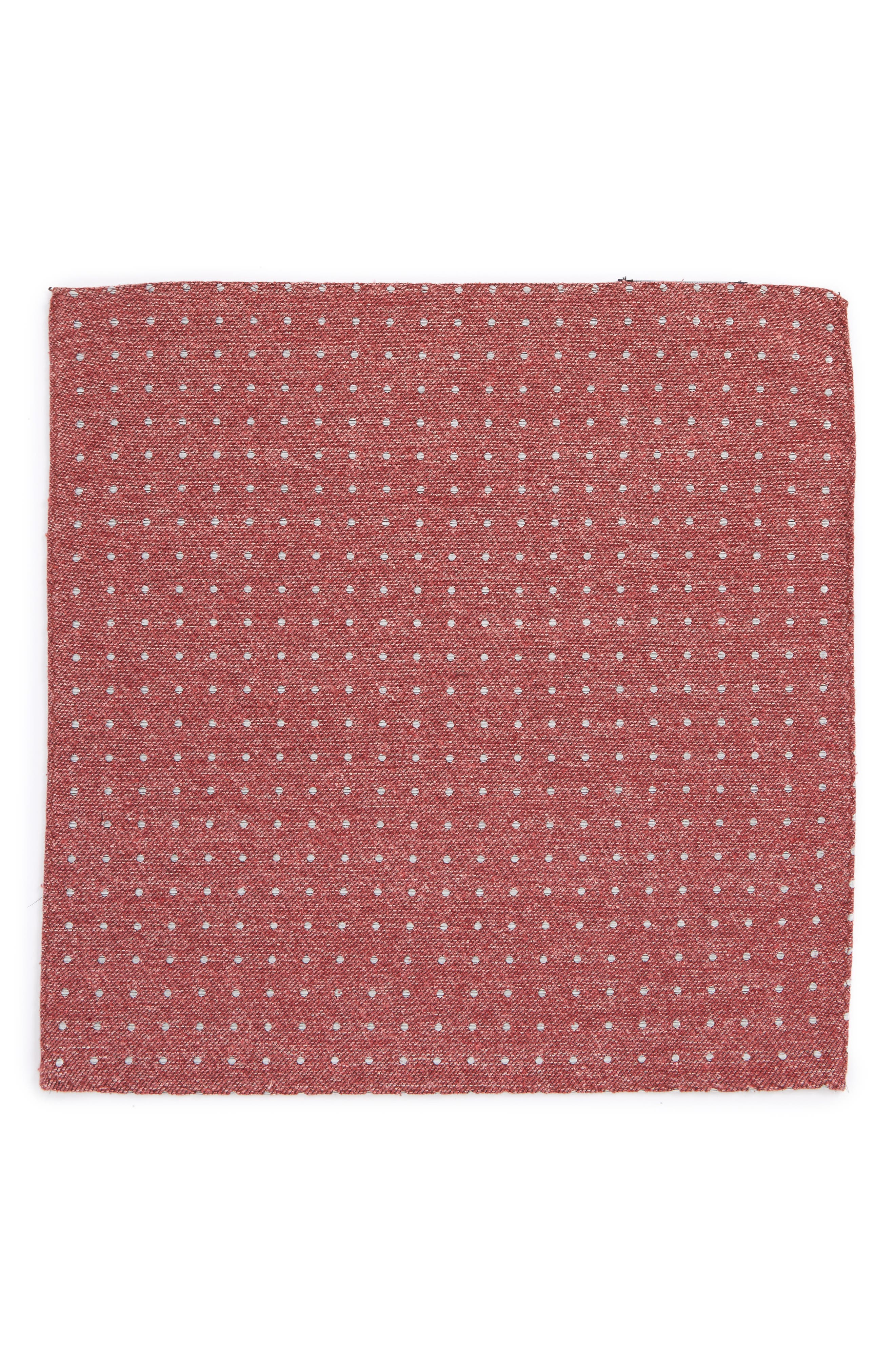 Knotted Dots Silk Pocket Square,                             Alternate thumbnail 2, color,                             600