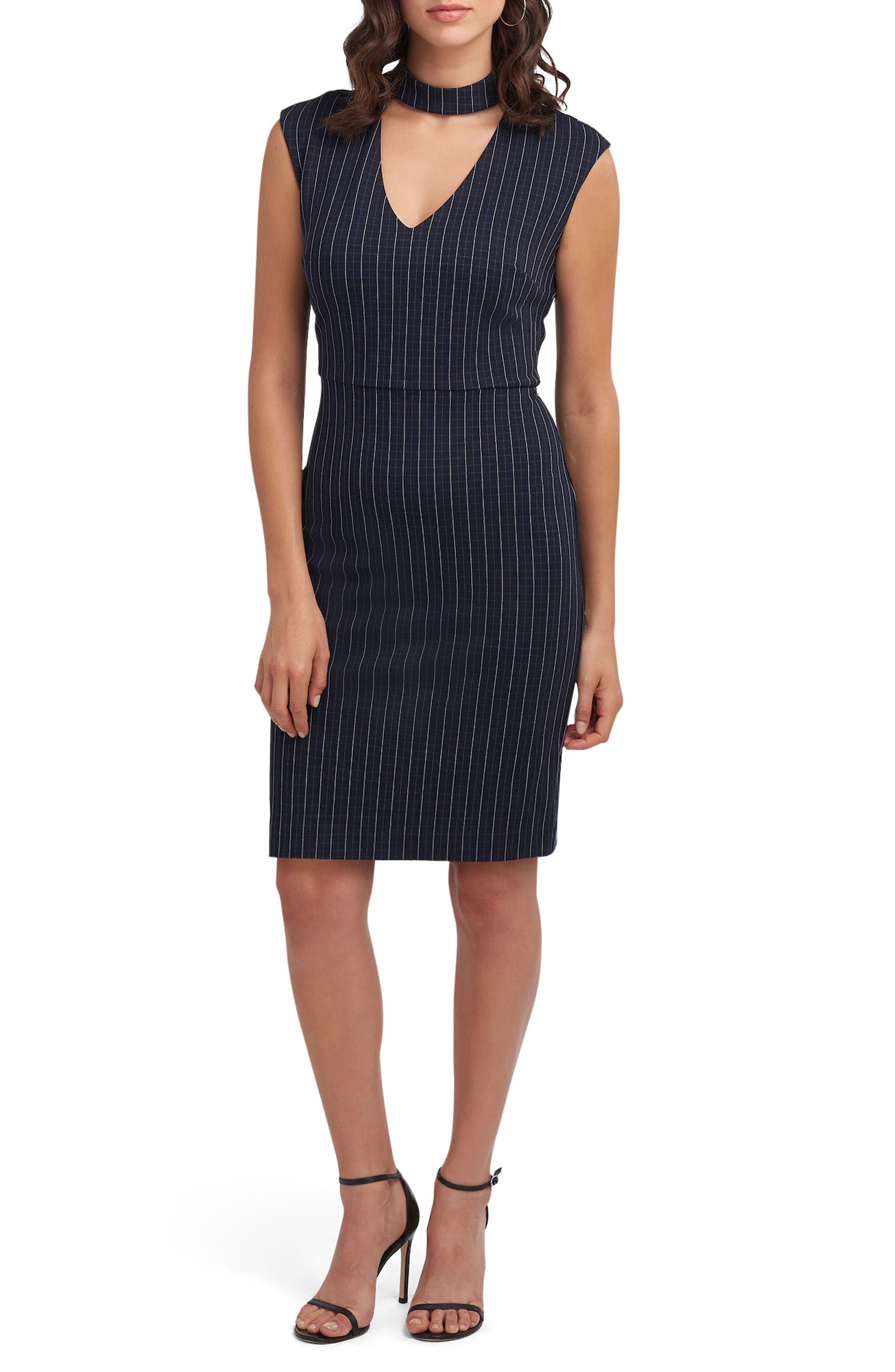 Choker Sheath Dress,                         Main,                         color, 410