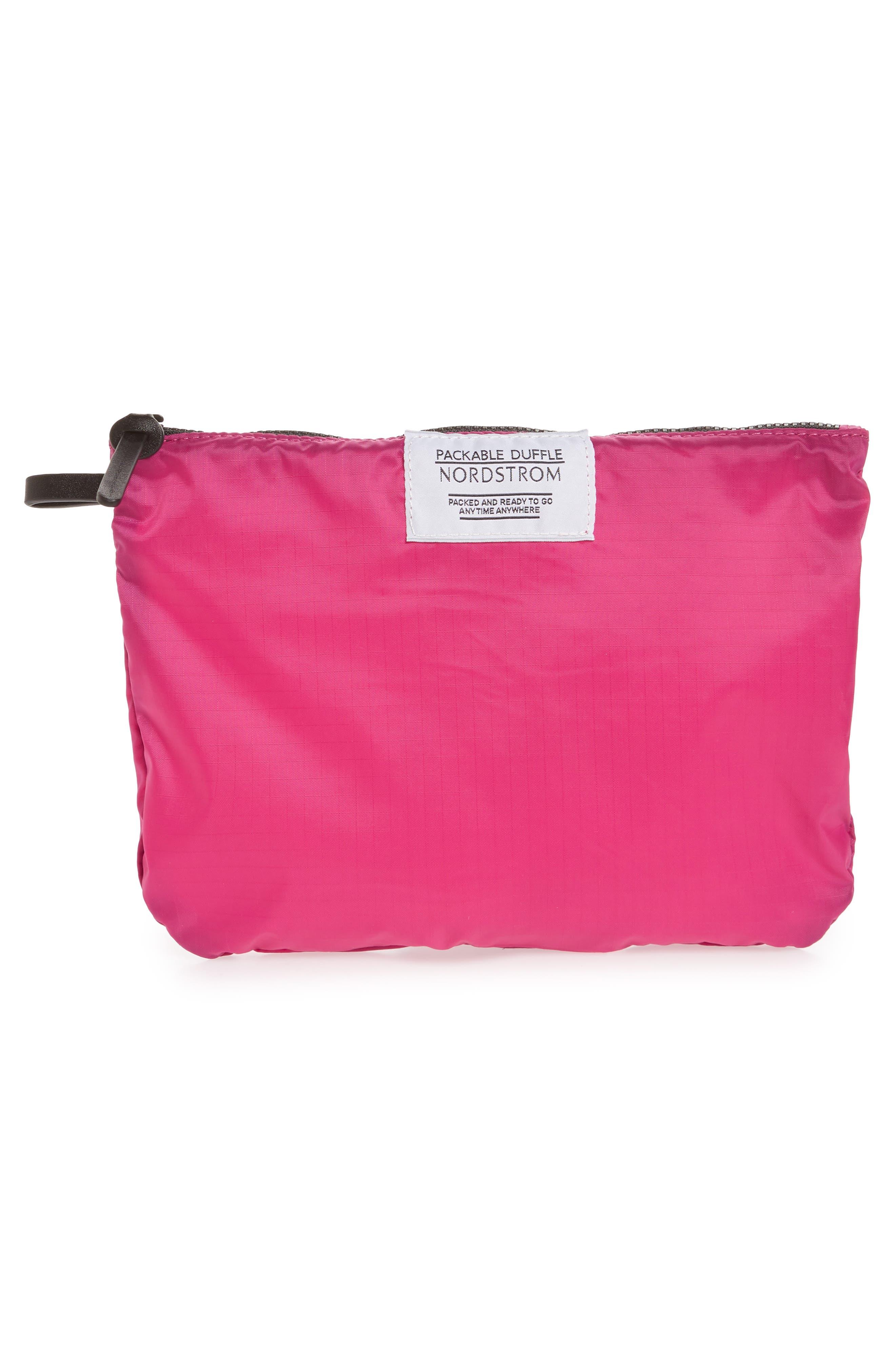 Packable Nylon Duffel Bag,                             Alternate thumbnail 21, color,