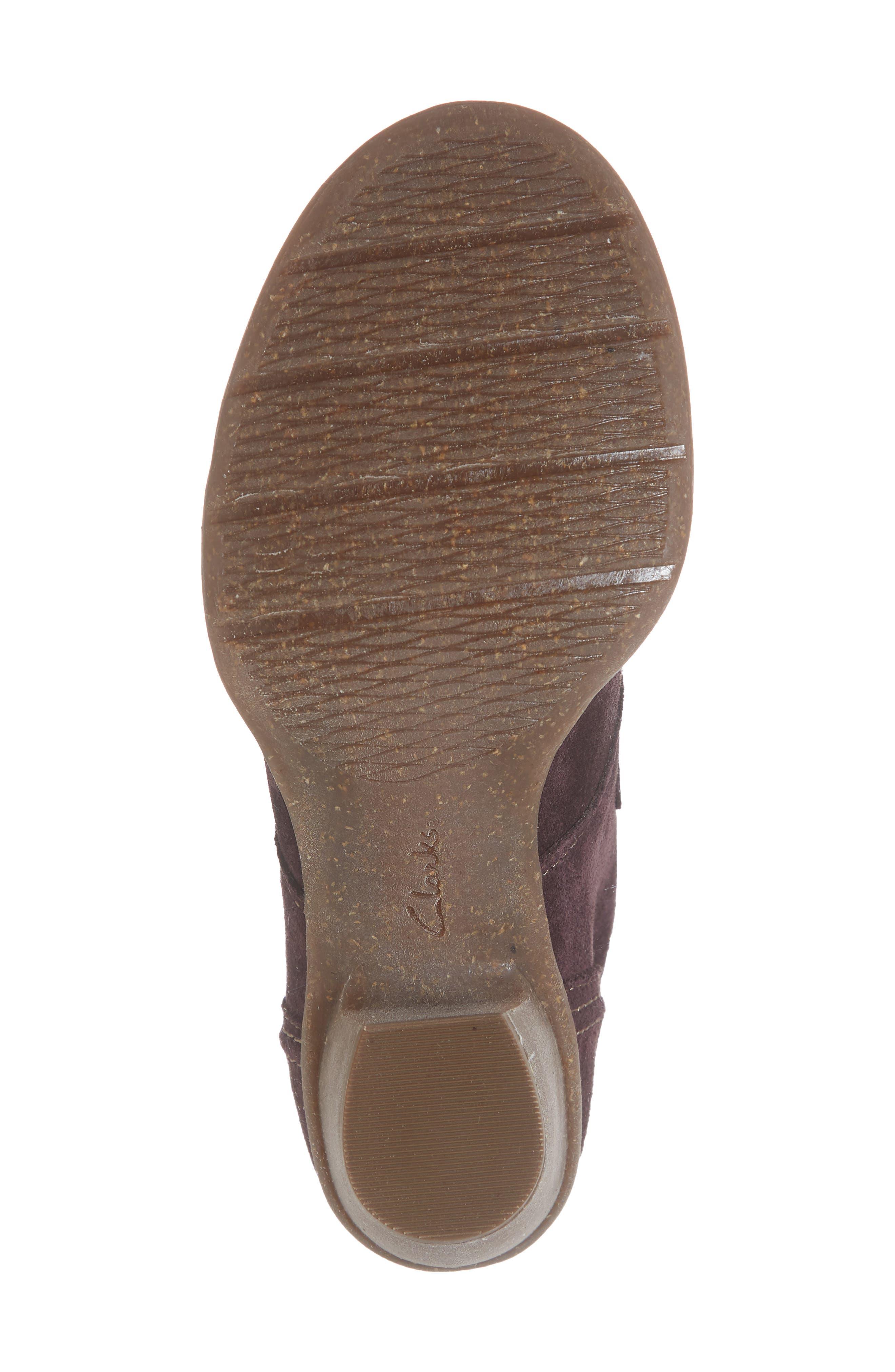 'Carleta Lyon' Ankle Boot,                             Alternate thumbnail 6, color,                             AUBERGINE SUEDE