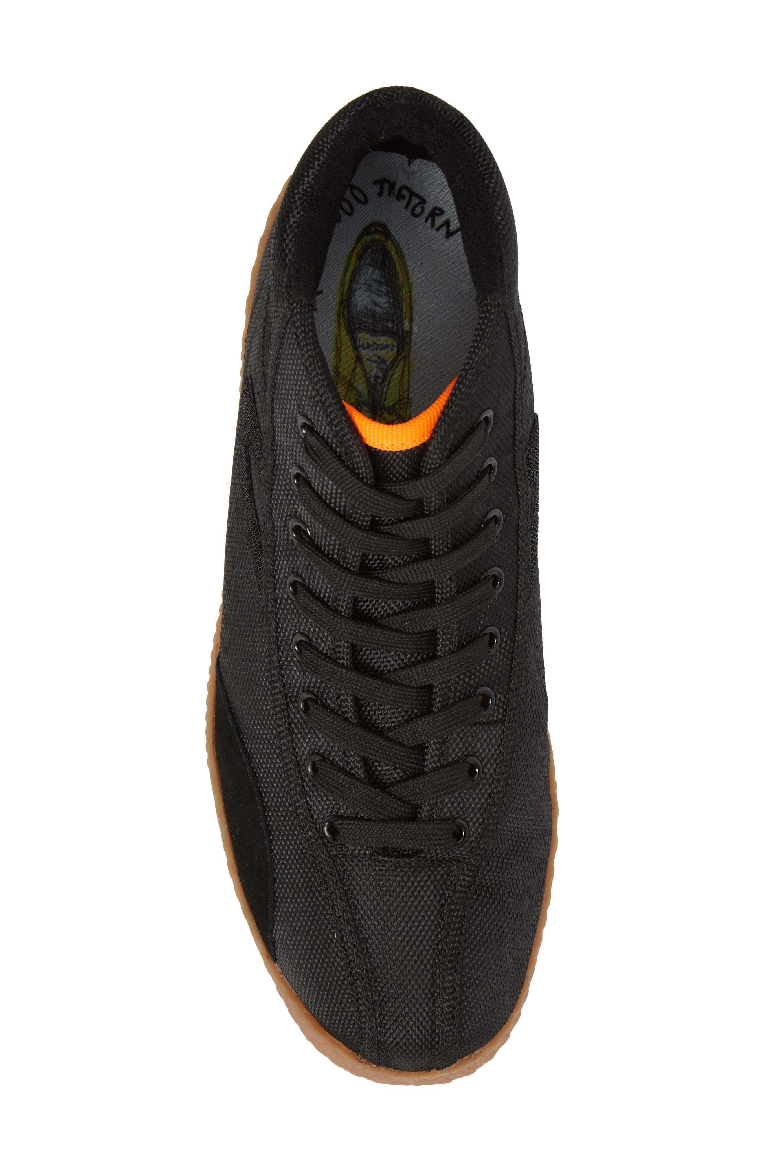 Andre 3000 Nylite High Top Sneaker,                             Alternate thumbnail 5, color,                             BLACK/ NEON ORANGE NYLON