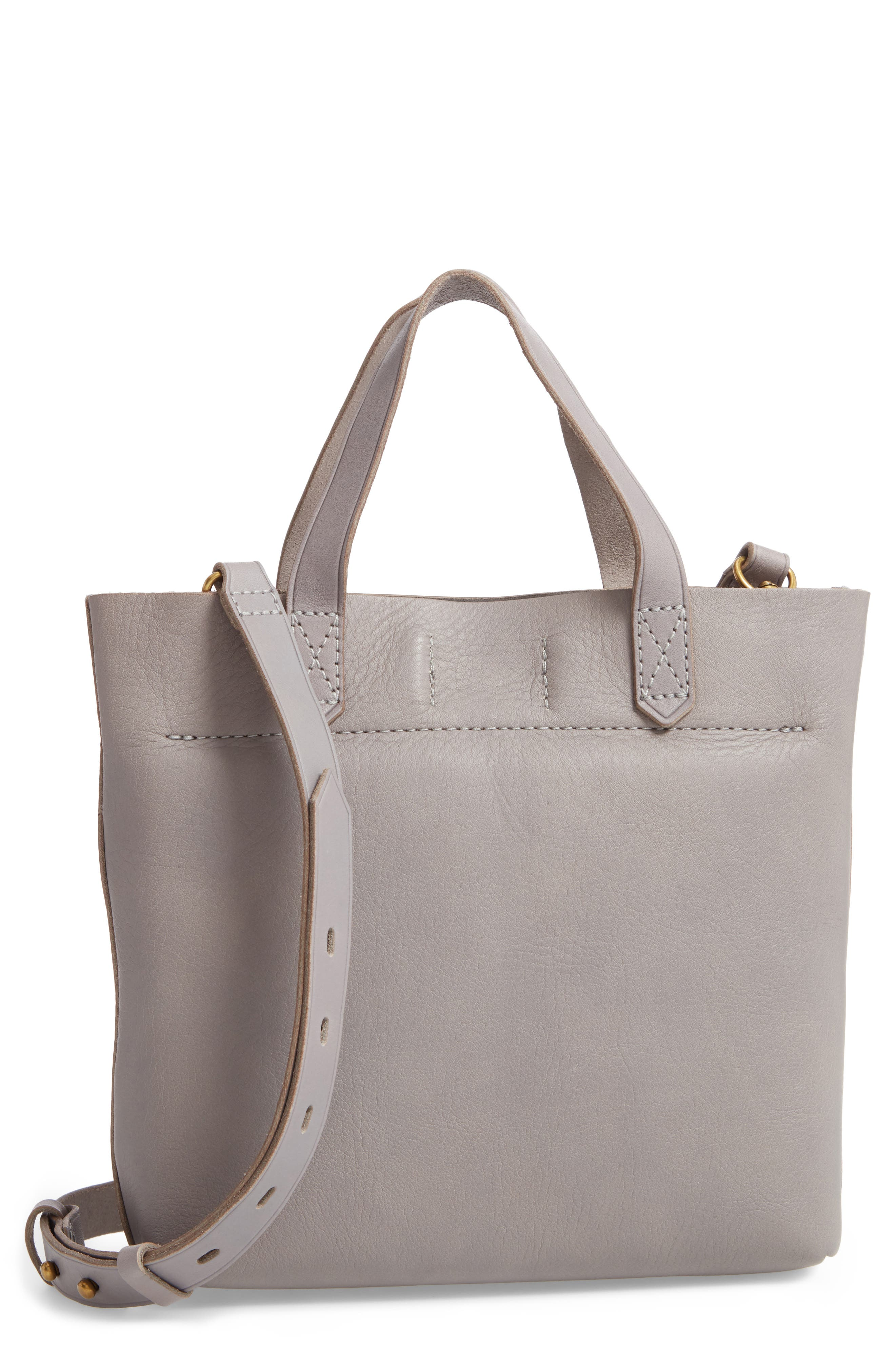 Small Transport Leather Crossbody,                             Alternate thumbnail 3, color,                             STONEWALL