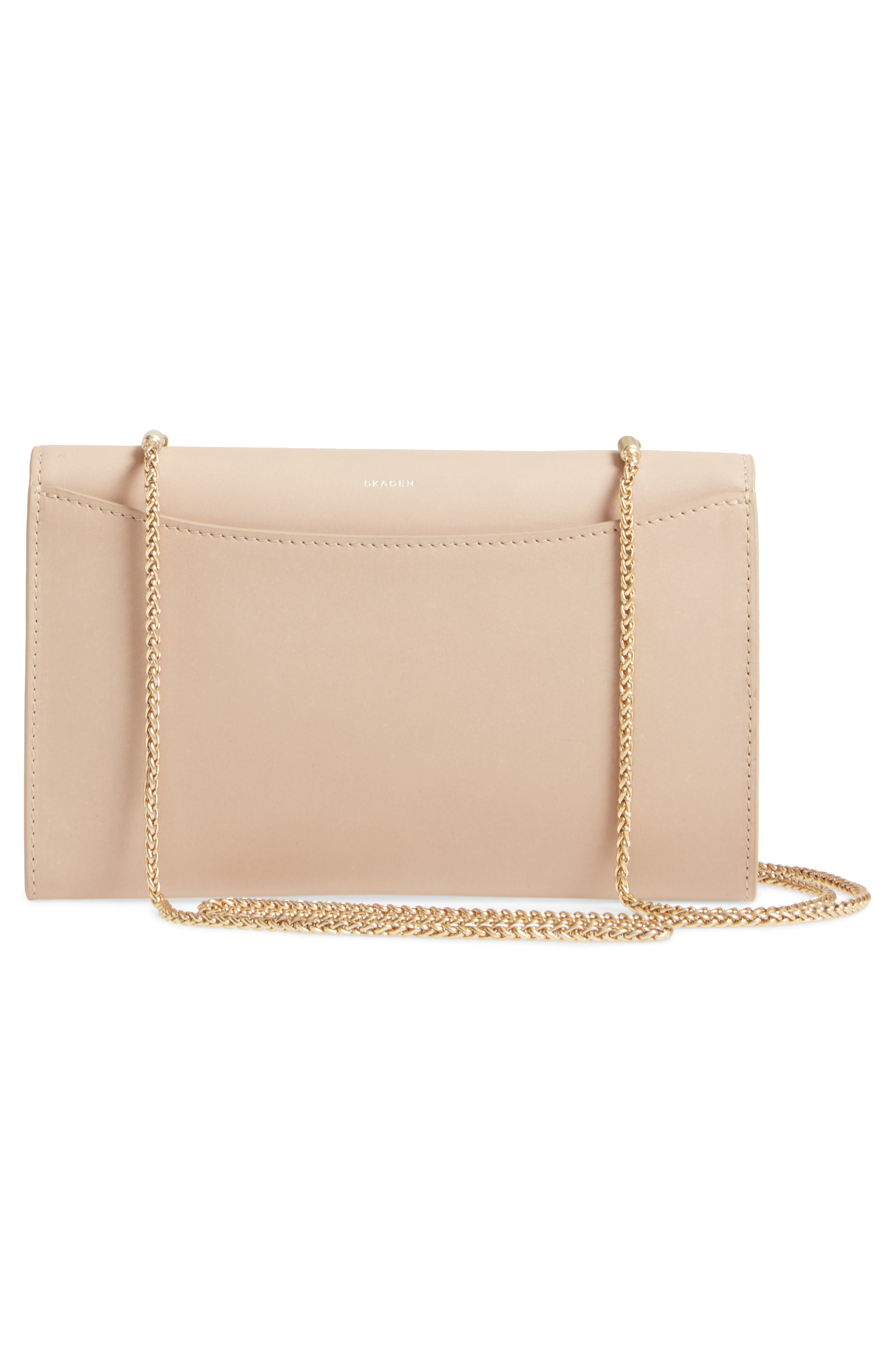 Eryka Leather Wallet on a Chain,                             Alternate thumbnail 3, color,                             251