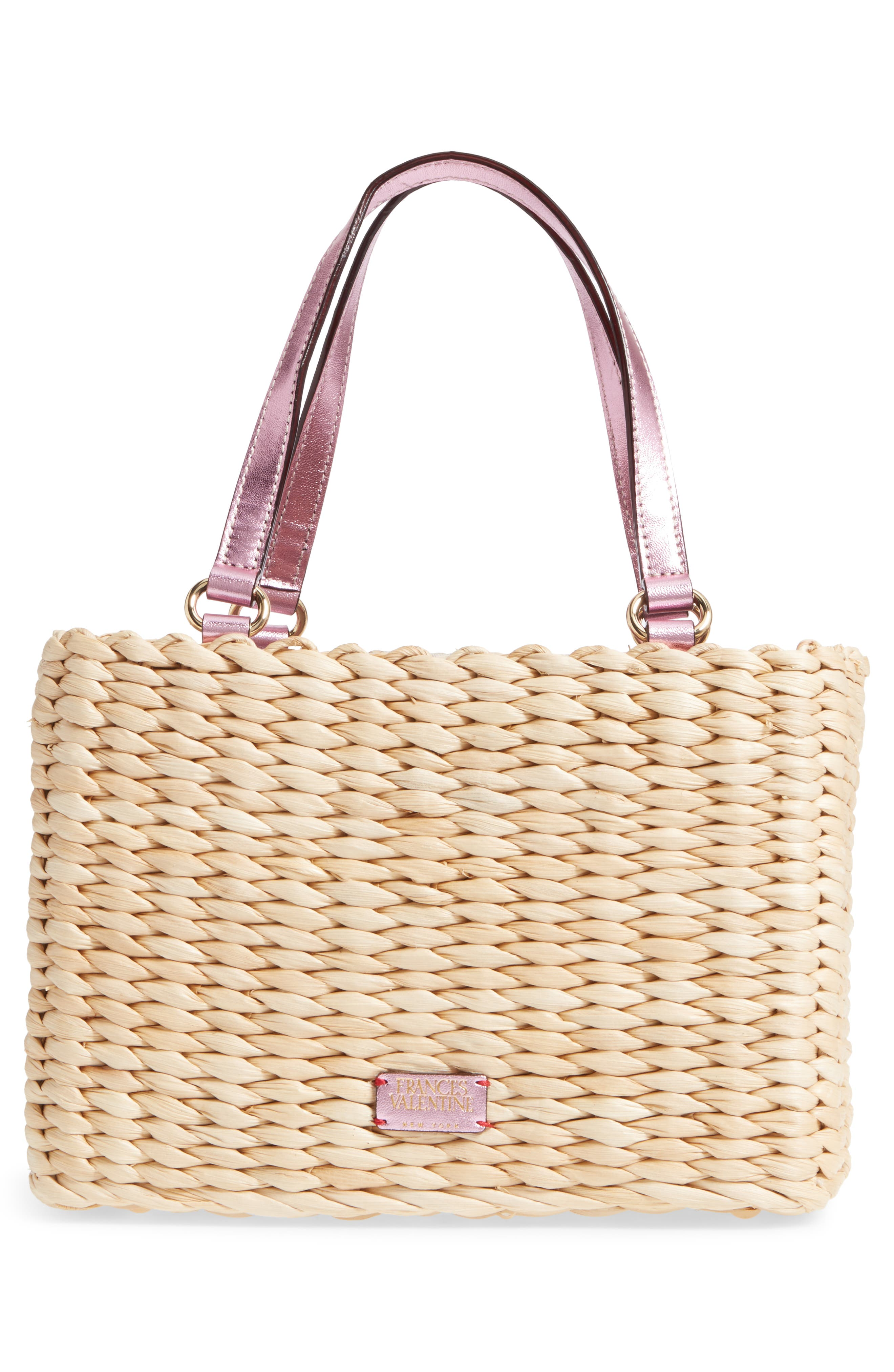 Small Woven Straw Tote,                             Alternate thumbnail 3, color,                             670