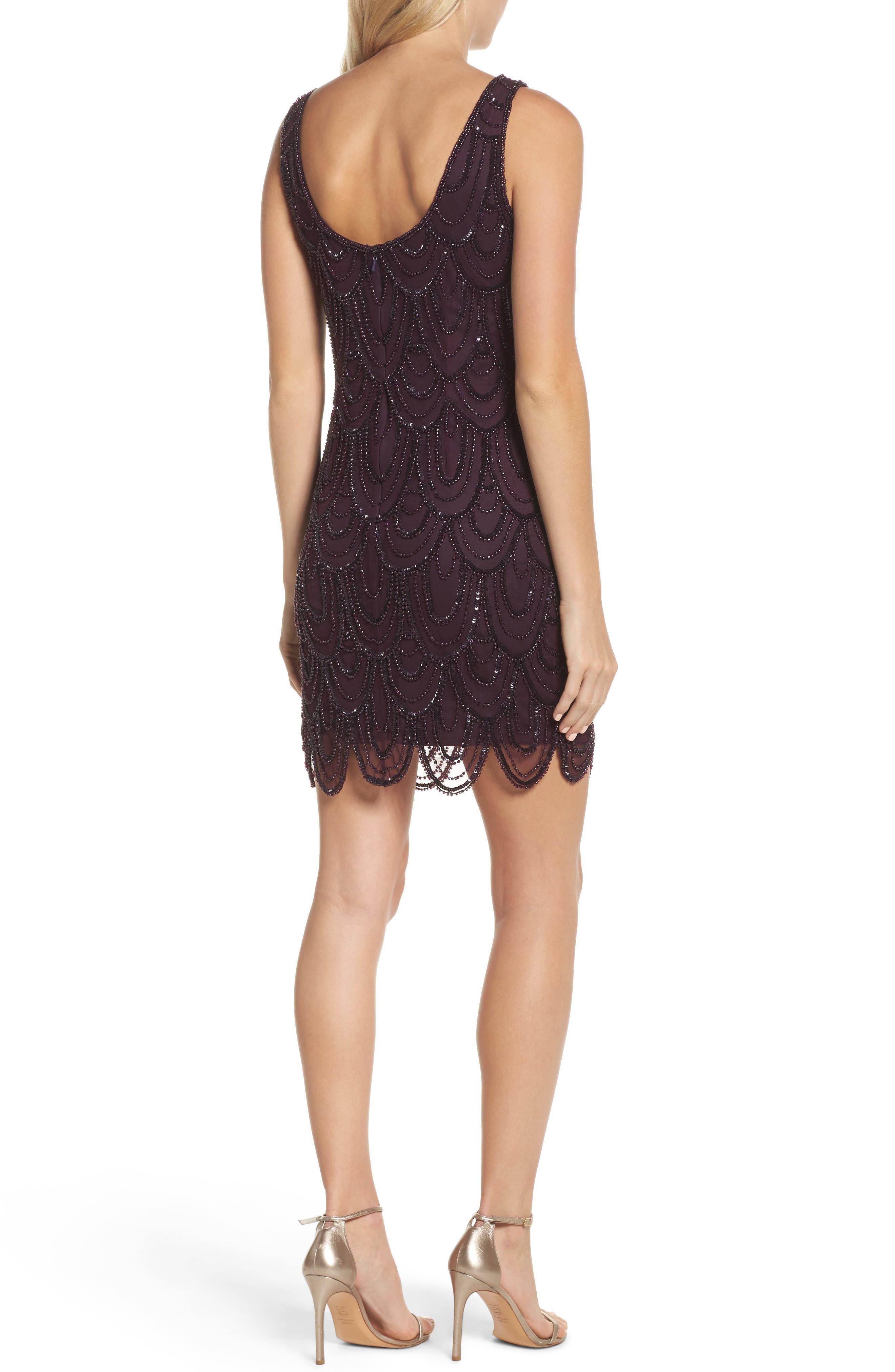 Embellished Mesh Sheath Dress,                             Alternate thumbnail 26, color,