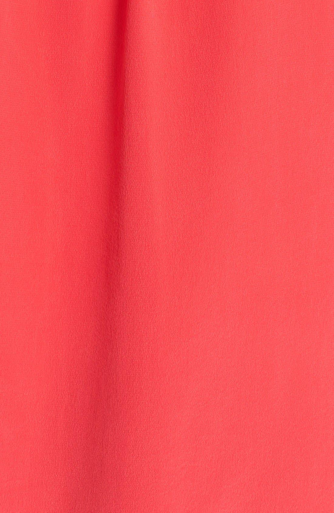 'Slim Signature' Sleeveless Silk Shirt,                             Alternate thumbnail 201, color,