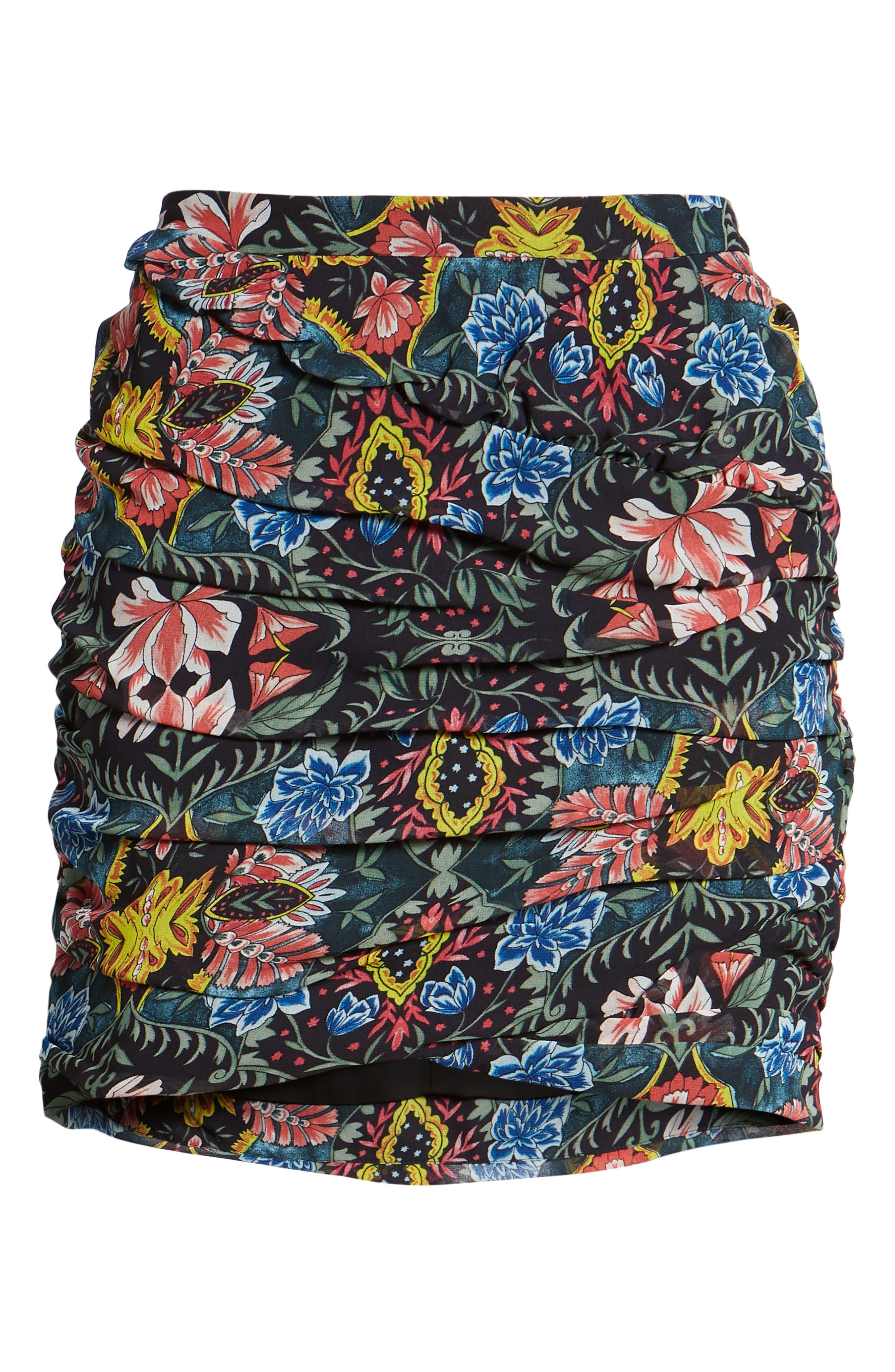 Adalynn Floral Miniskirt,                             Alternate thumbnail 6, color,                             MULTI