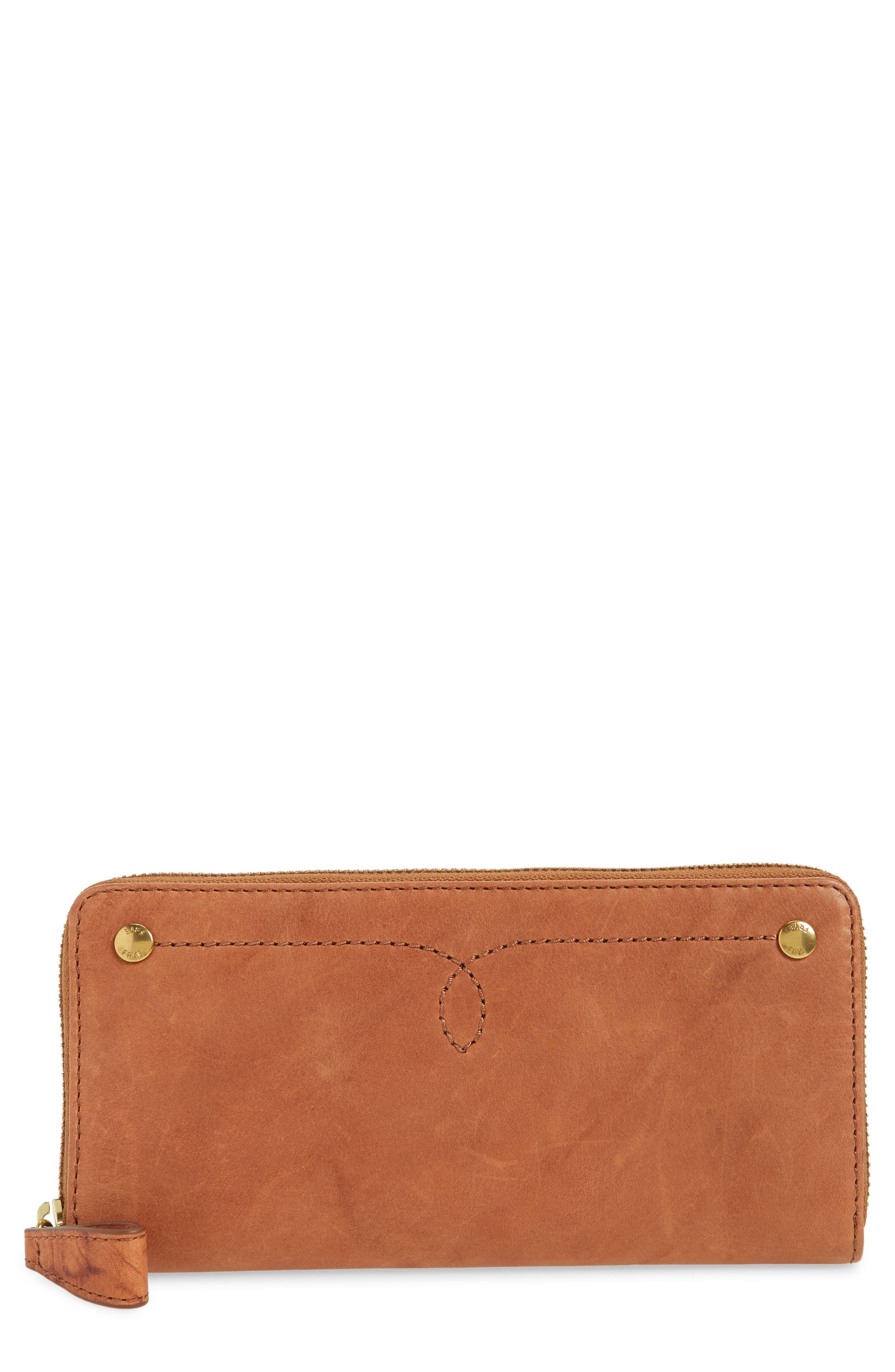 Campus Rivet Leather Continental Zip Wallet,                             Main thumbnail 2, color,