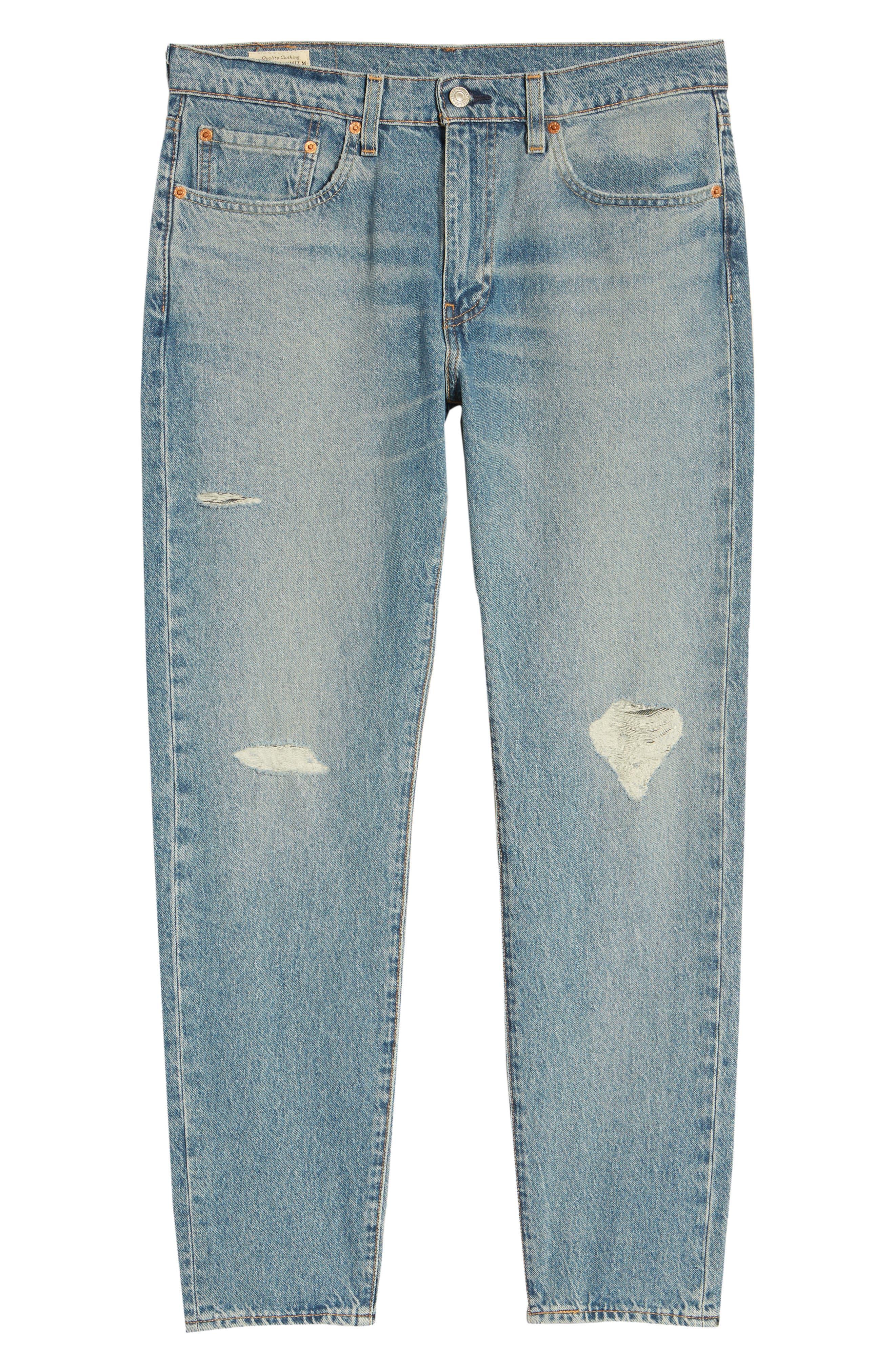 Hi-Ball Straight Leg Jeans,                             Alternate thumbnail 6, color,                             LIGHT BLUE