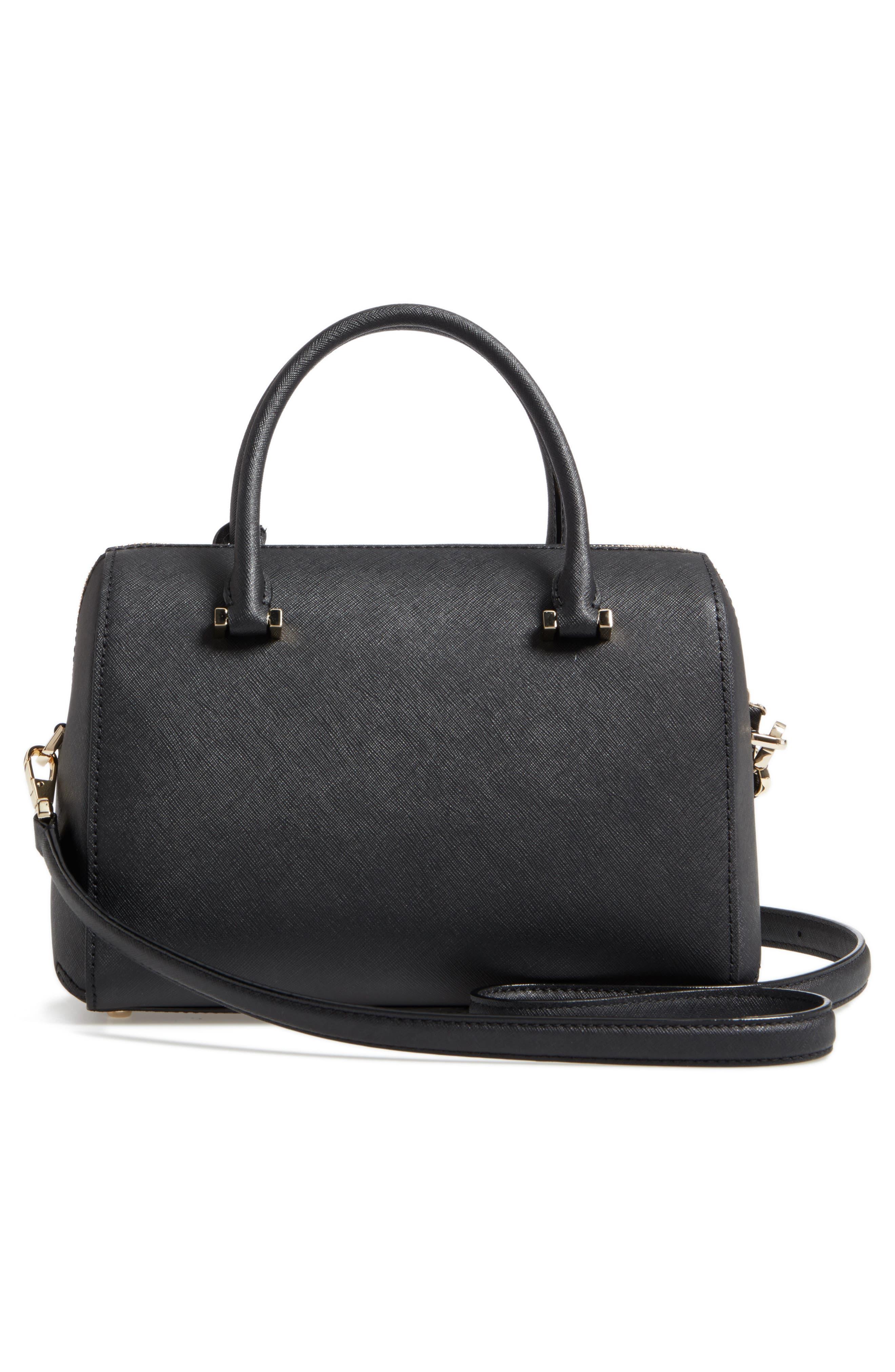 large lane - ma cherie leather satchel,                             Alternate thumbnail 3, color,                             001