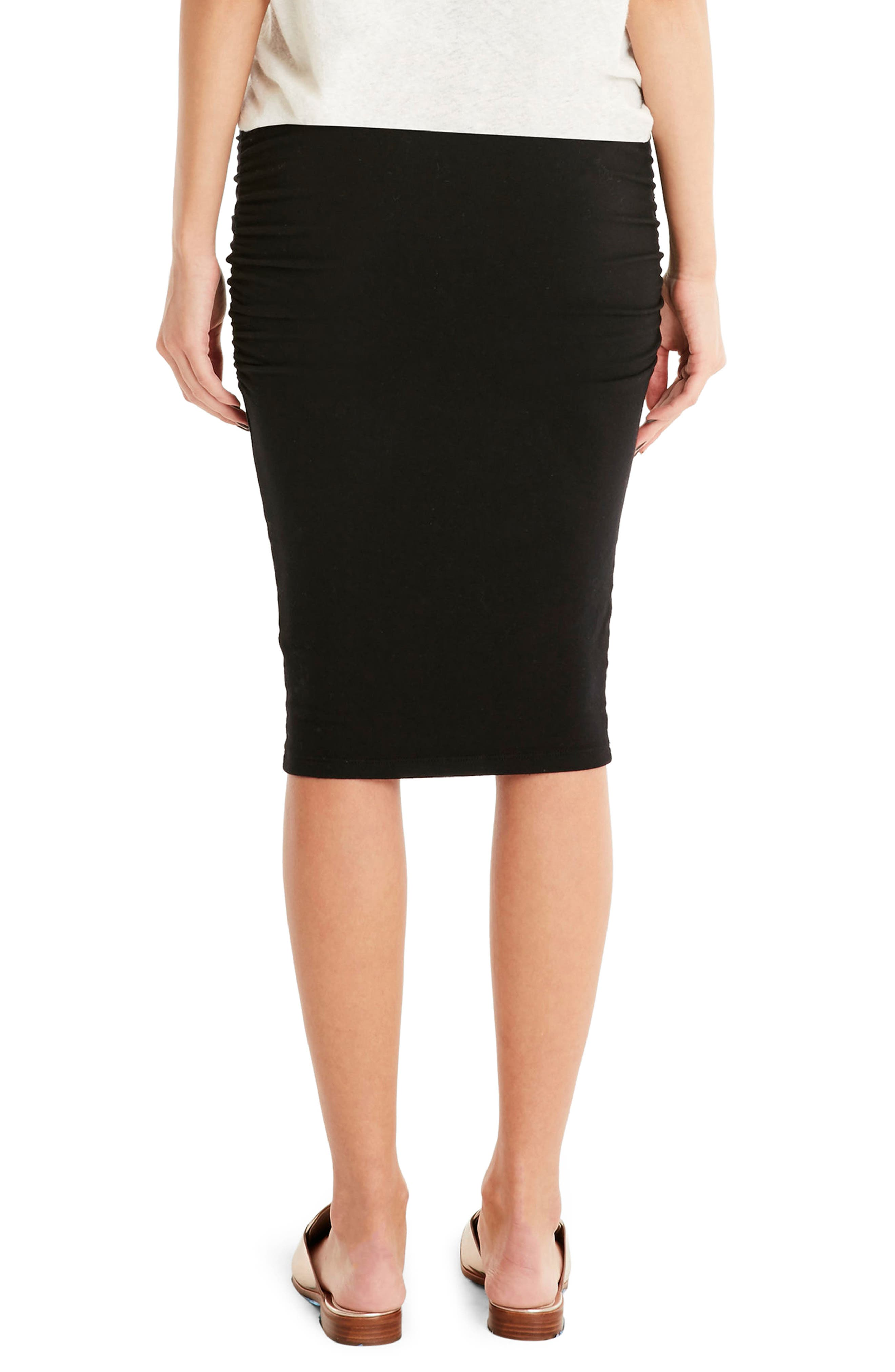 Ruched Pencil Skirt,                             Alternate thumbnail 2, color,