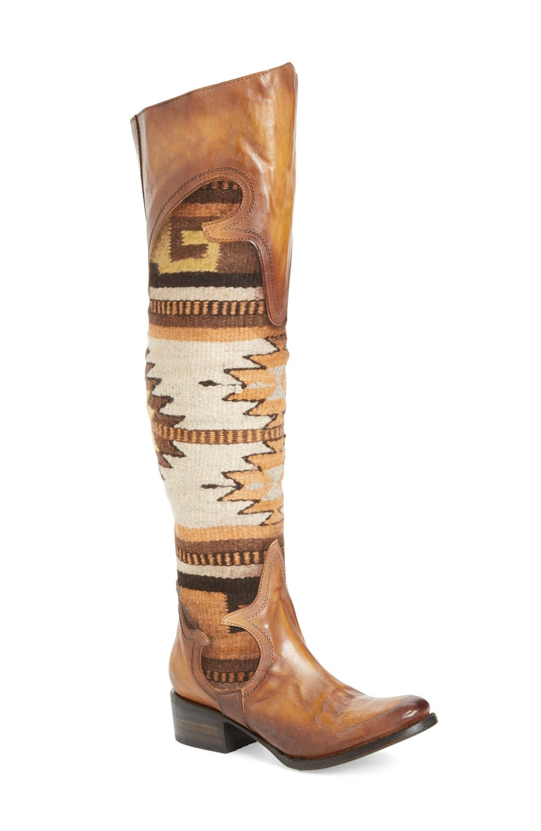 Sun Over the Knee Boot,                             Main thumbnail 1, color,