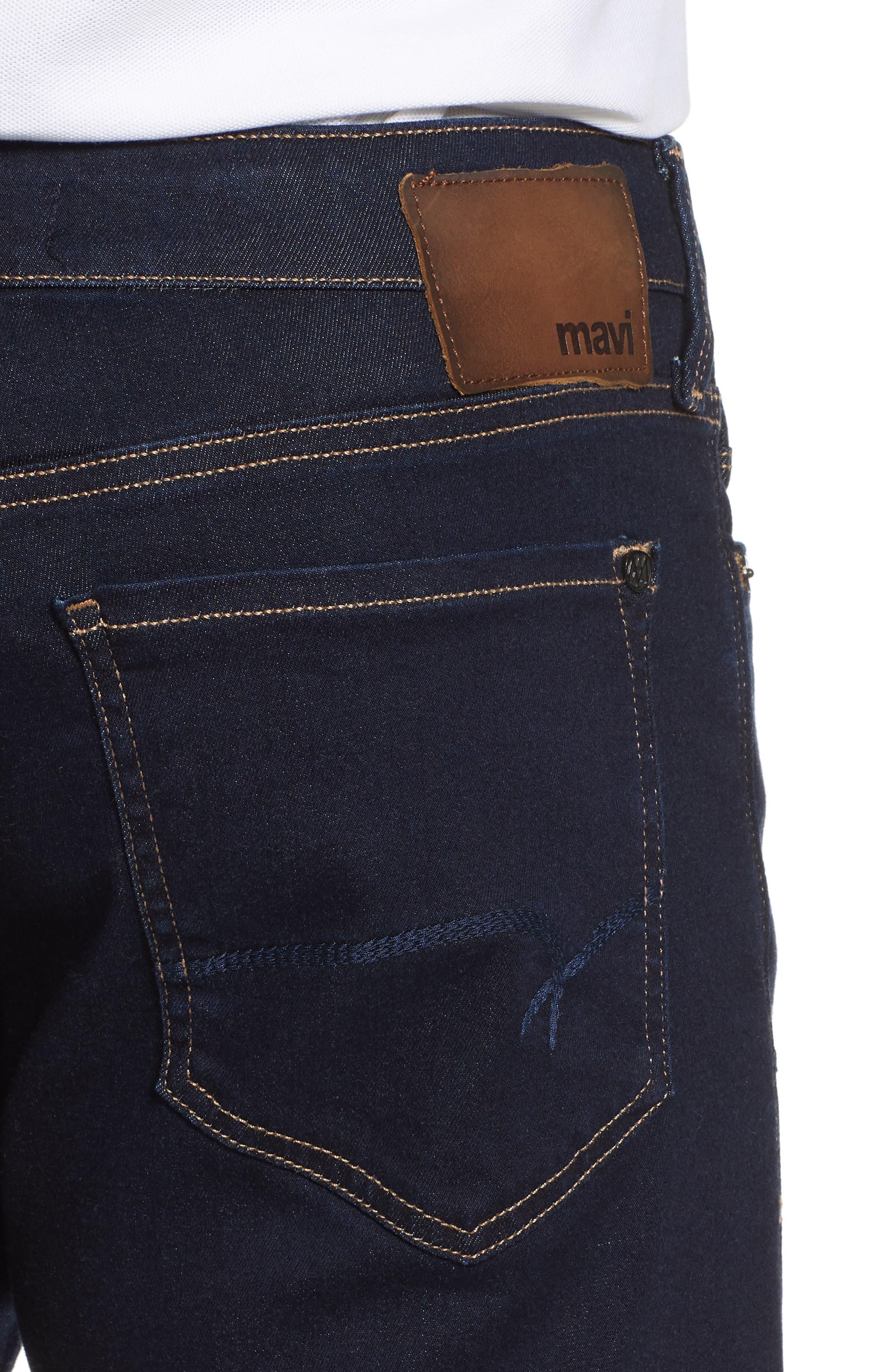 Matt Relaxed Fit Straight Leg Jeans,                             Alternate thumbnail 4, color,                             DEEP RINSE SOFT MOVE