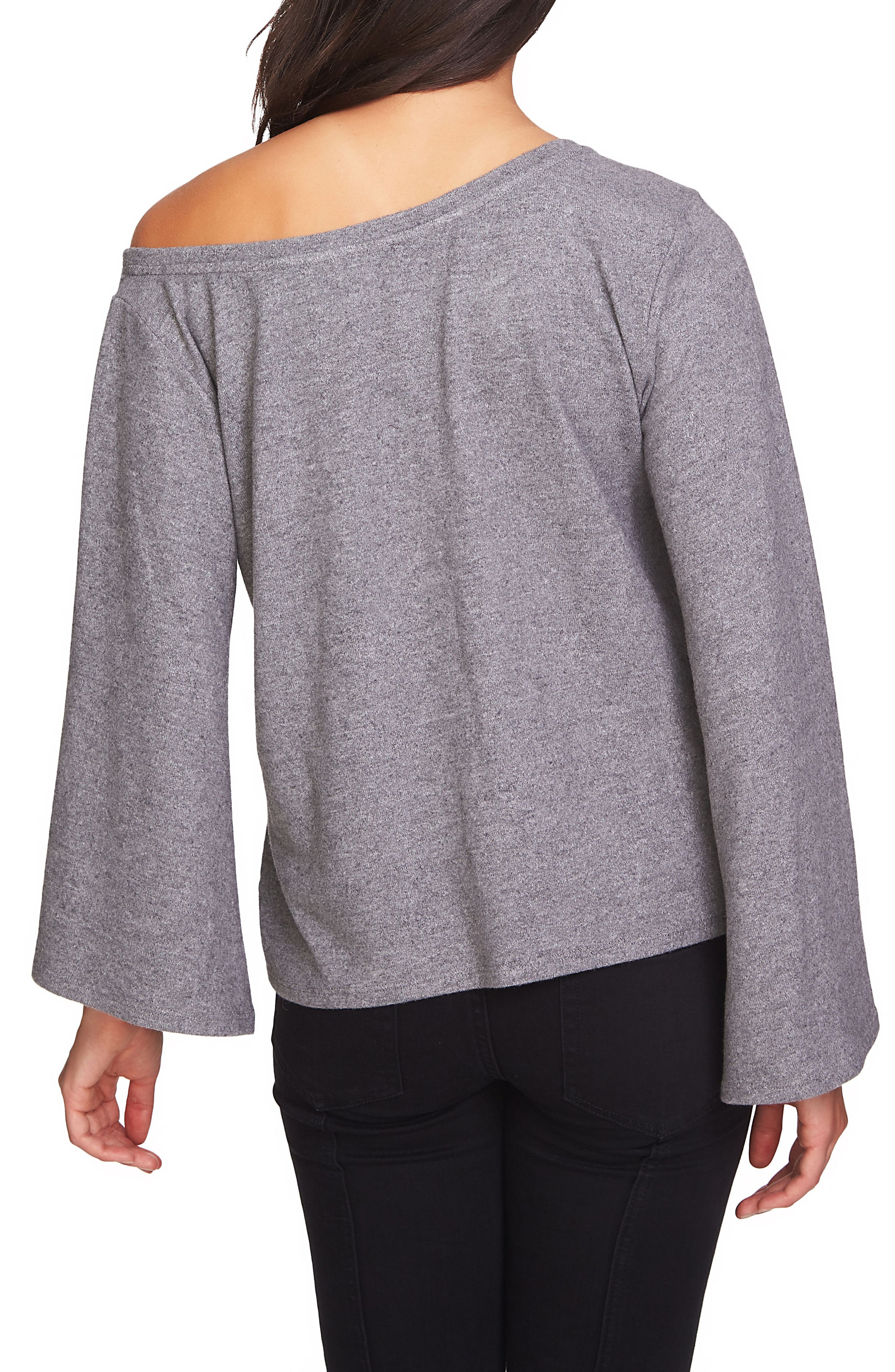 The Cozy Bell Sleeve One Shoulder Top,                             Alternate thumbnail 2, color,                             021