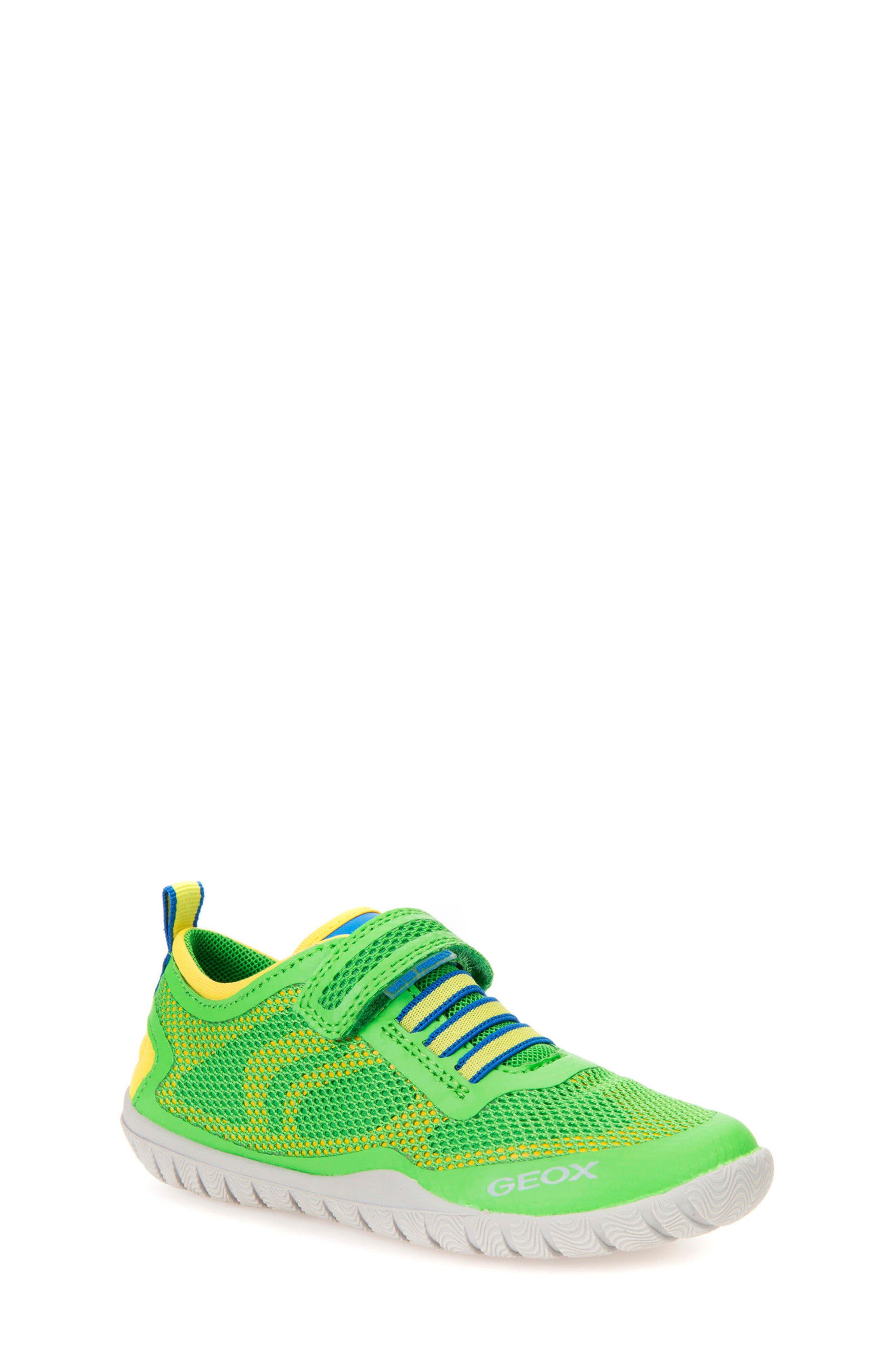 Trifon Sneaker,                         Main,                         color, GREEN/ YELLOW