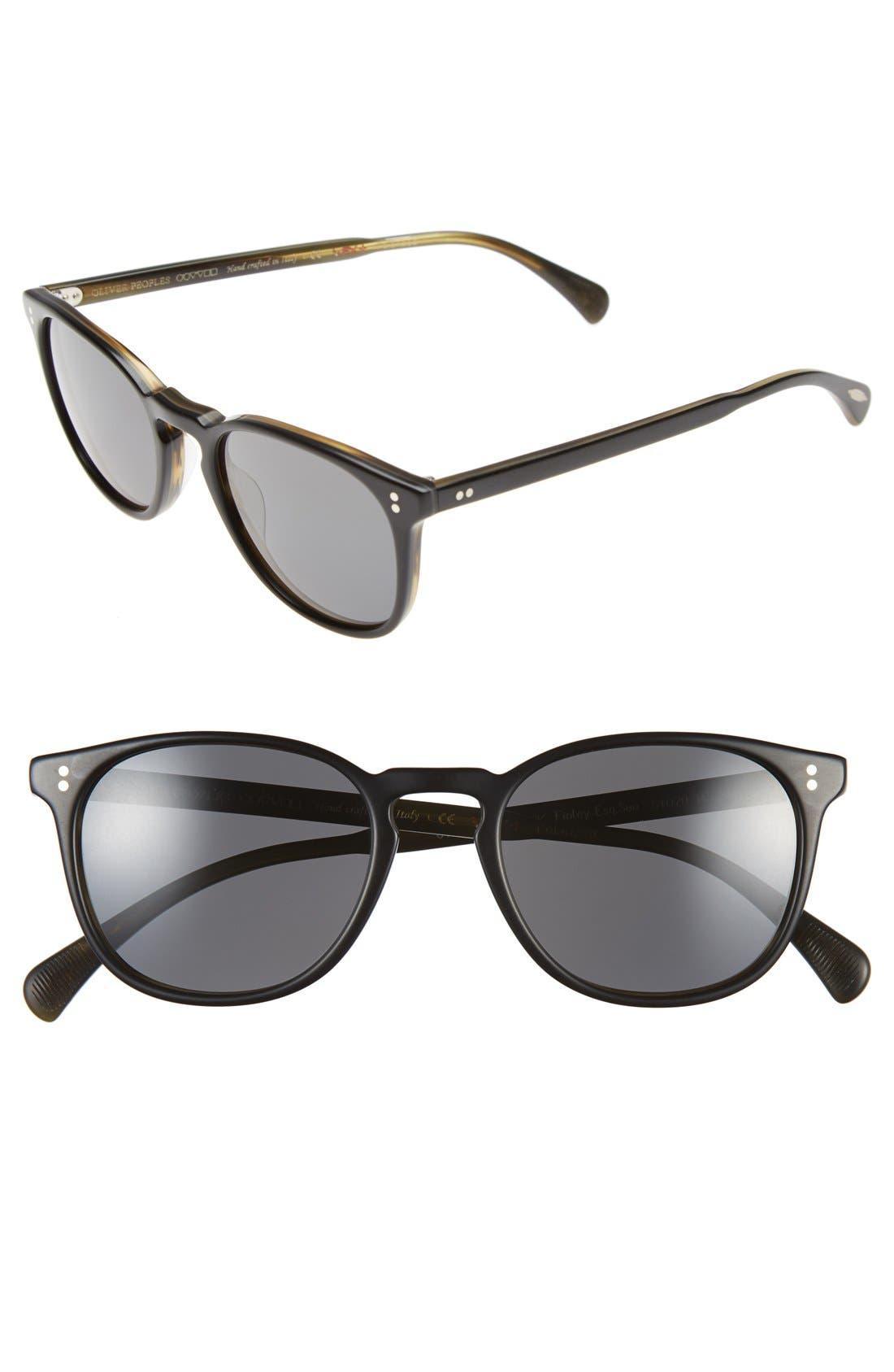 'Finley' 51mm Polarized Sunglasses,                         Main,                         color, BLACK/ GRAPHITE POLAR