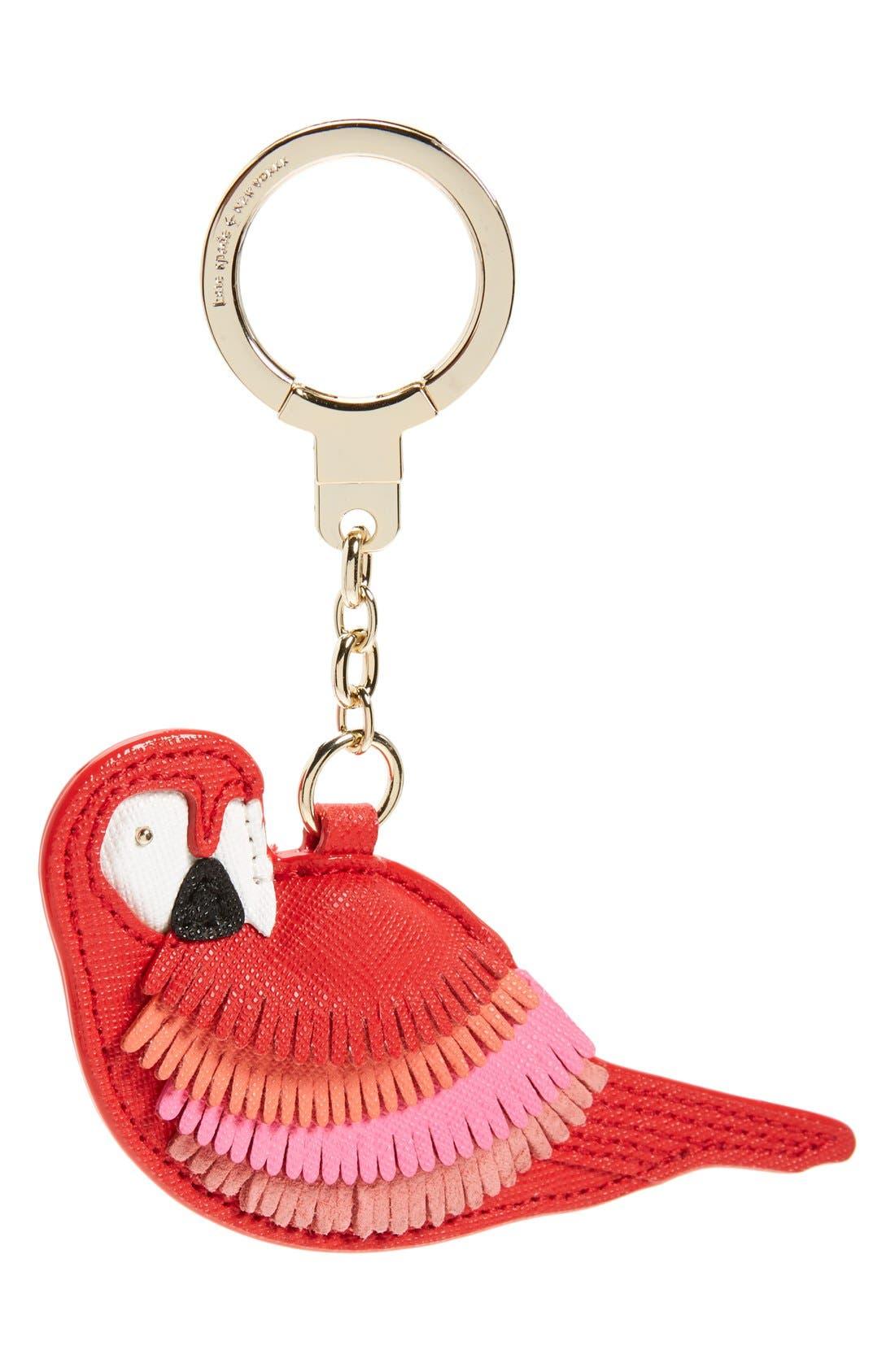 KATE SPADE NEW YORK 'parrot' bag charm, Main, color, 600
