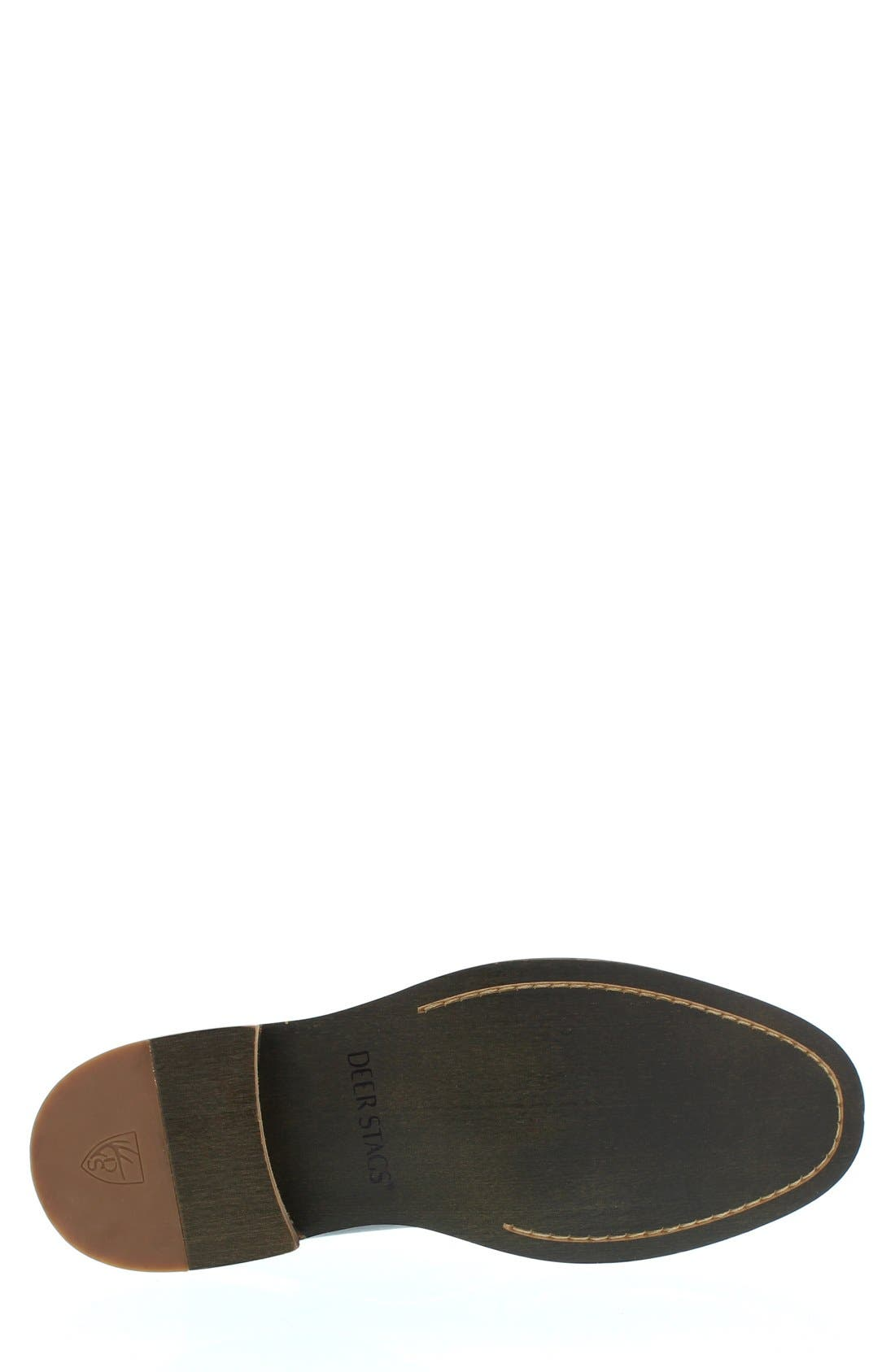 DEER STAGS,                             'Seattle' Leather Chukka Boot,                             Alternate thumbnail 4, color,                             001