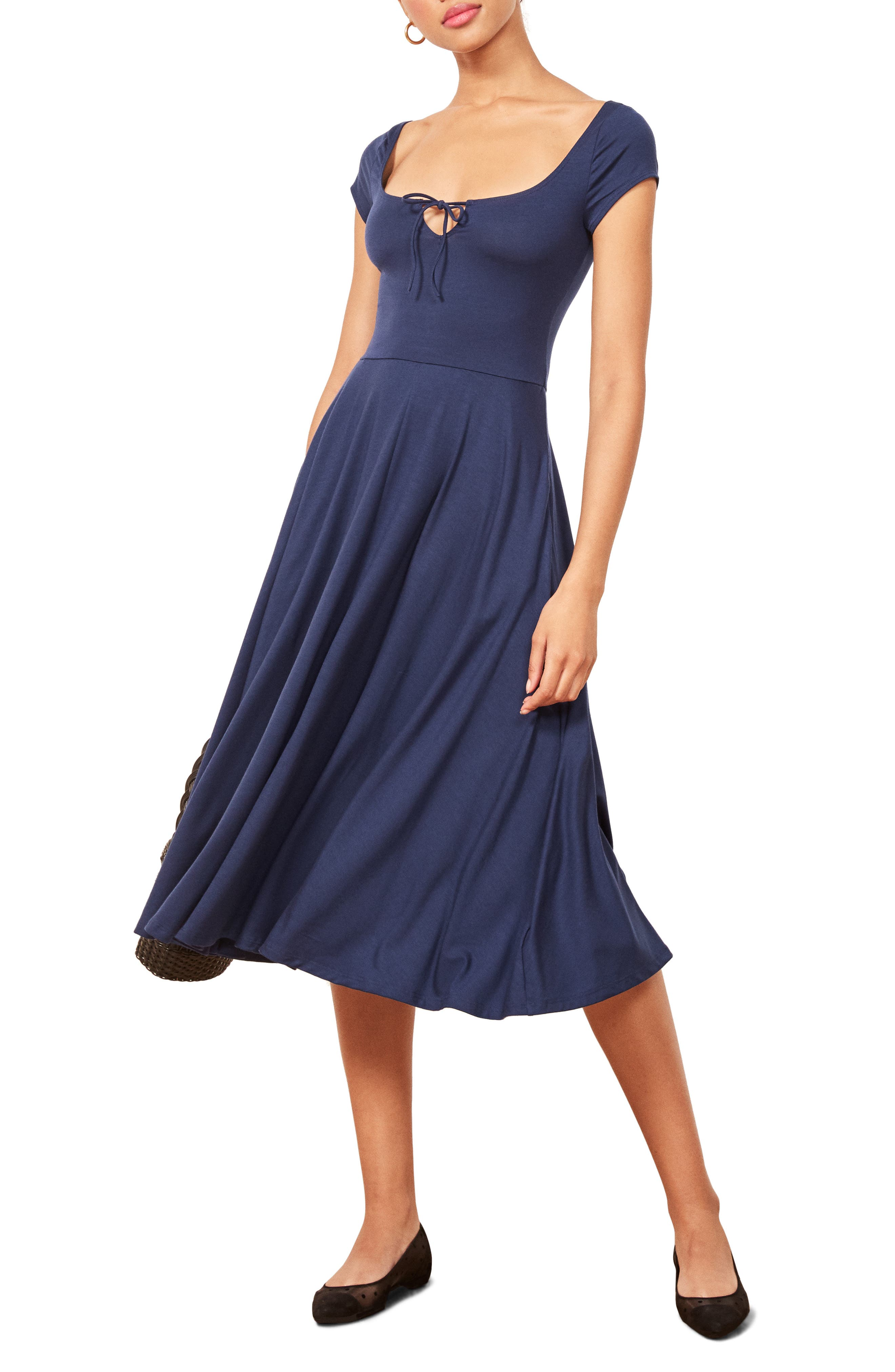 Krista Dress,                             Main thumbnail 1, color,                             NAVY