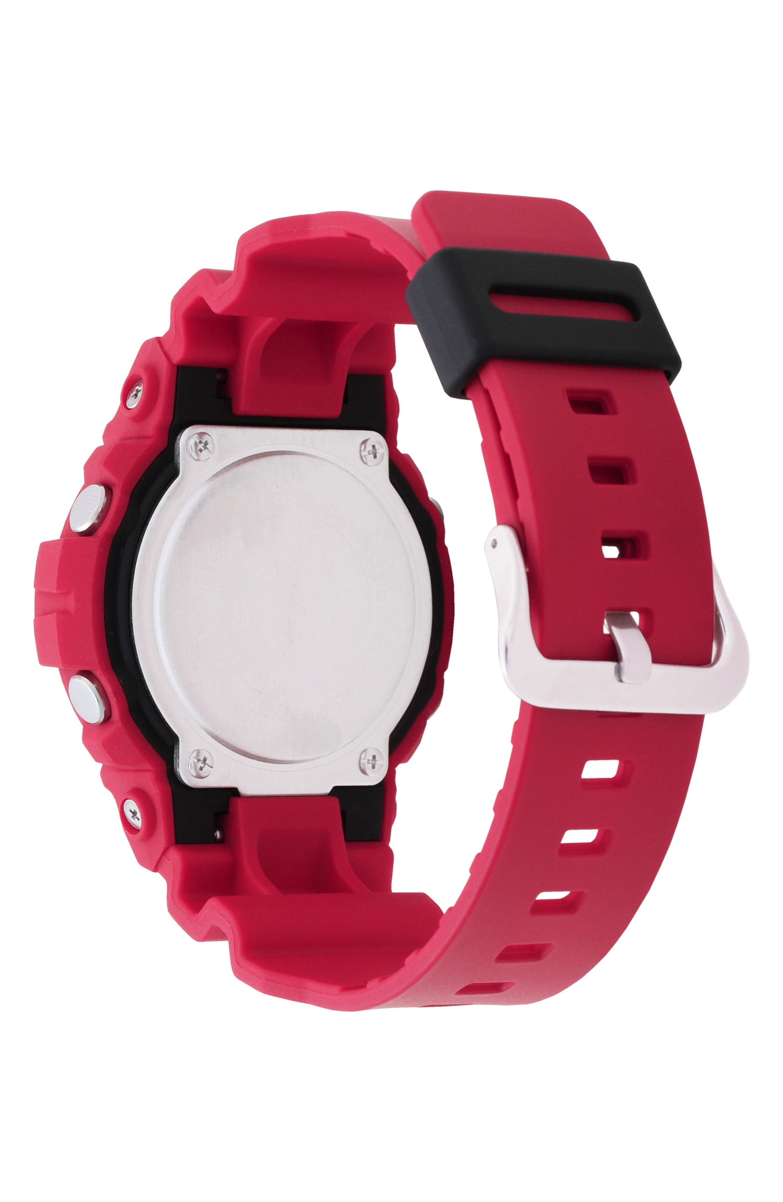 Front Button Ana-Digi Resin Watch, 48.6mm,                             Alternate thumbnail 2, color,