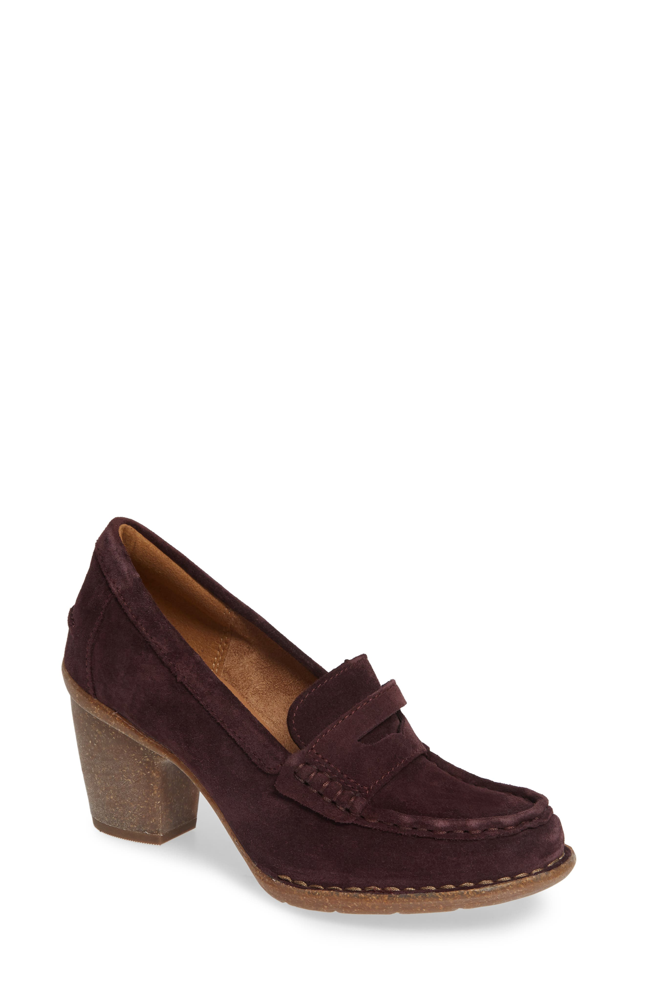 Carletta Belle Pump,                         Main,                         color, BURGUNDY SUEDE