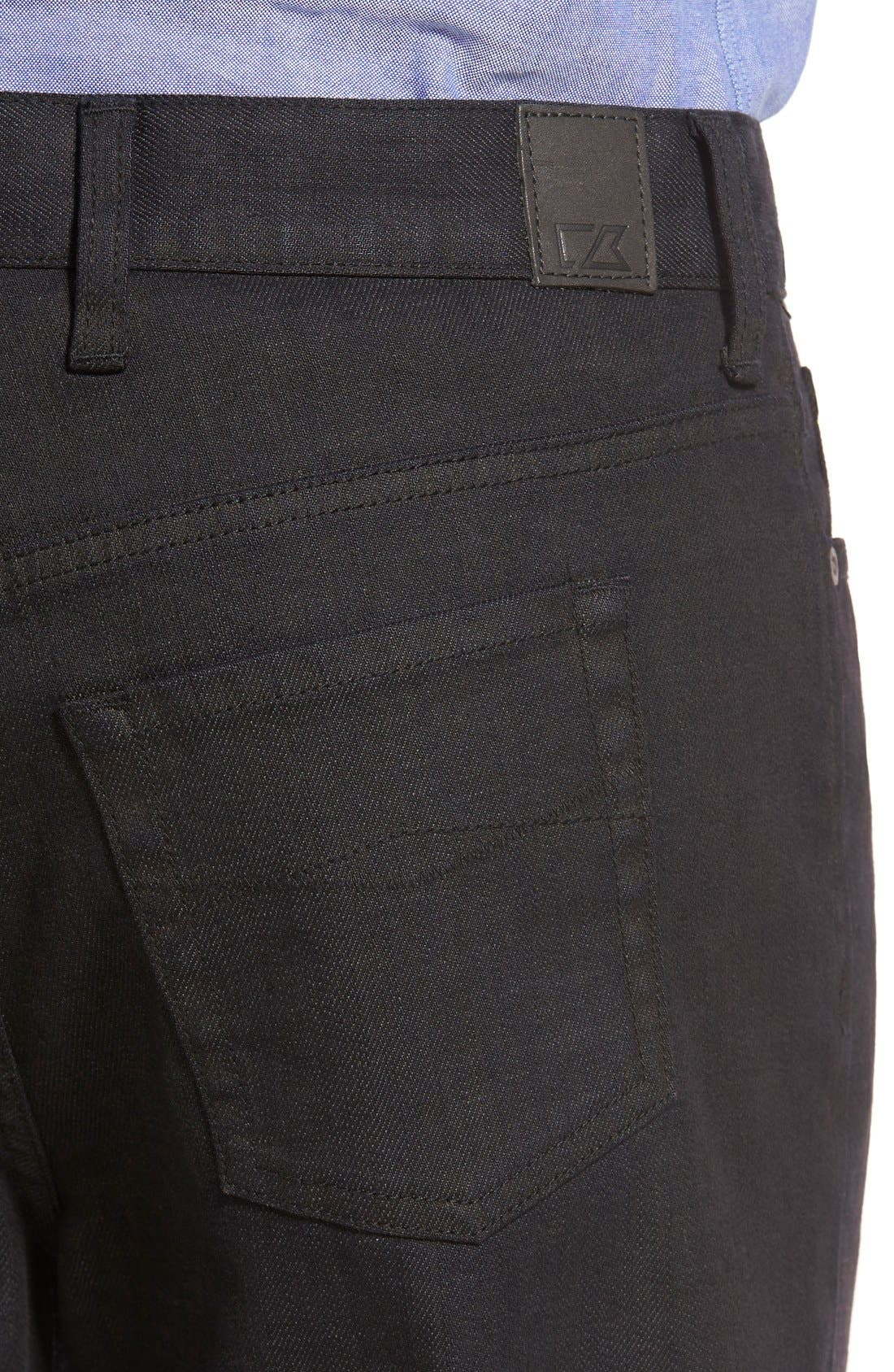 CUTTER & BUCK,                             'Greenwood' Relaxed Fit Jeans,                             Alternate thumbnail 3, color,                             BLACK
