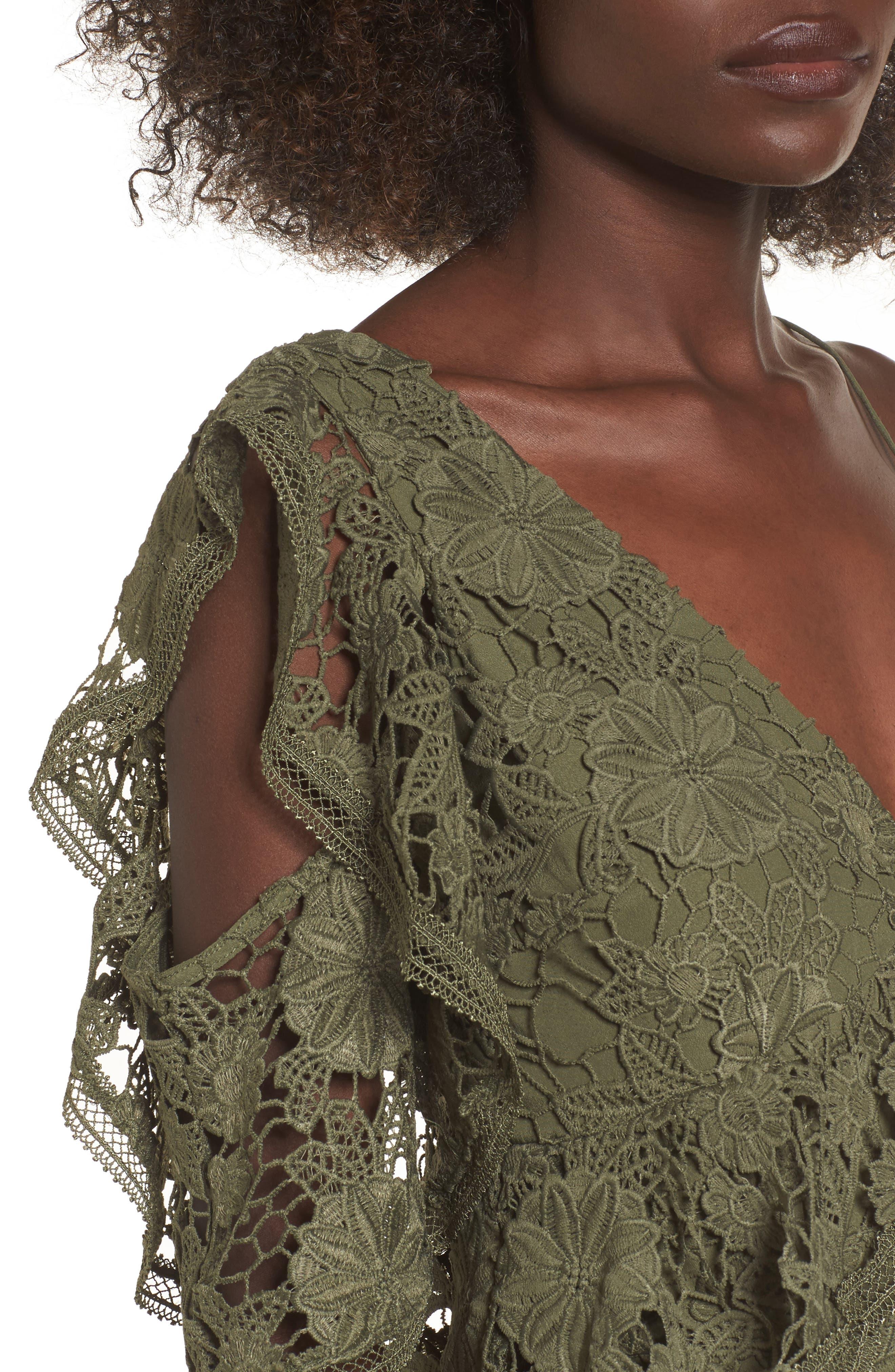 Frameless Lace Sheath Dress,                             Alternate thumbnail 4, color,                             300