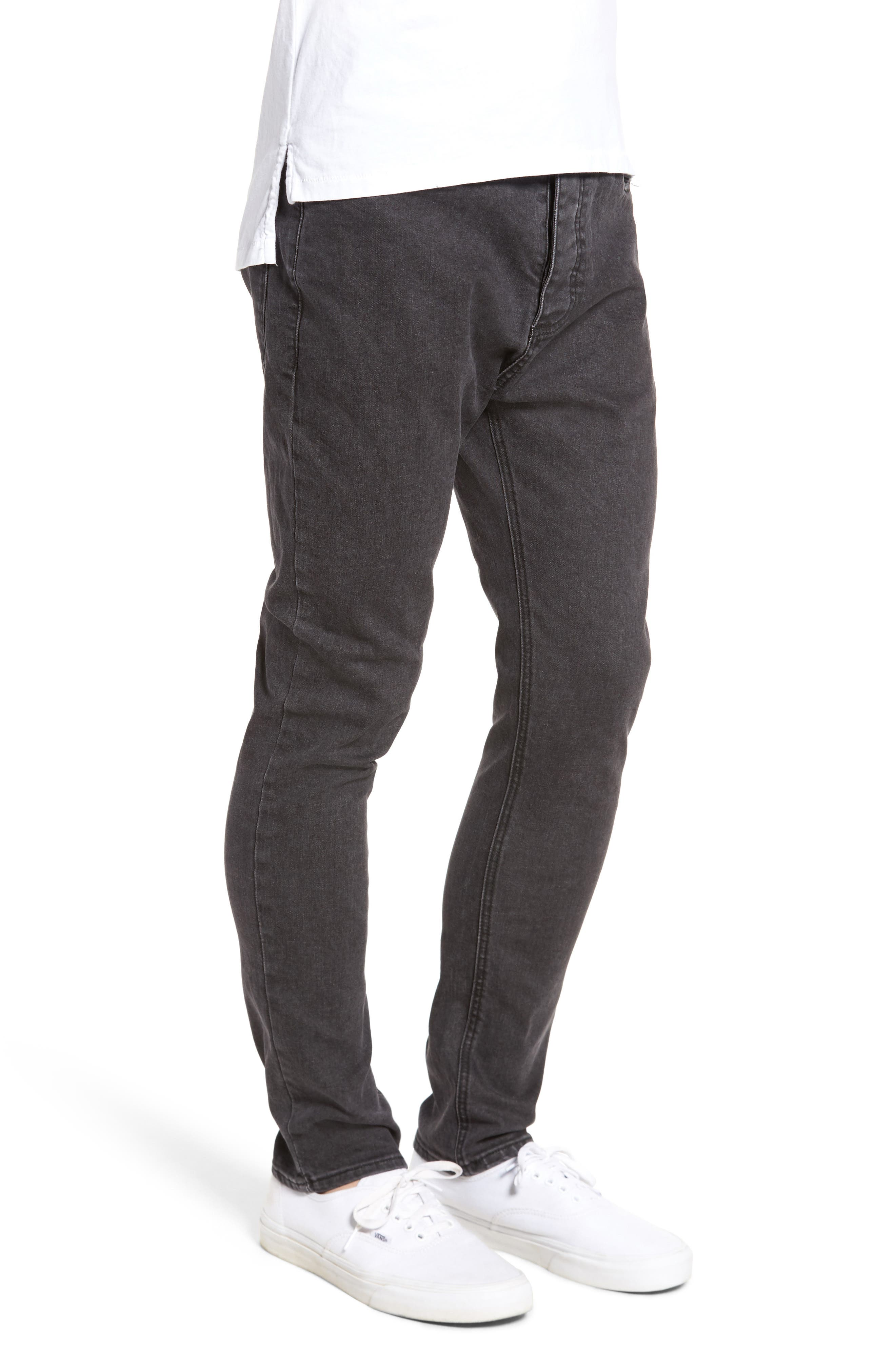 Joe Blow Destroyed Denim Jeans,                             Alternate thumbnail 3, color,                             BLACK
