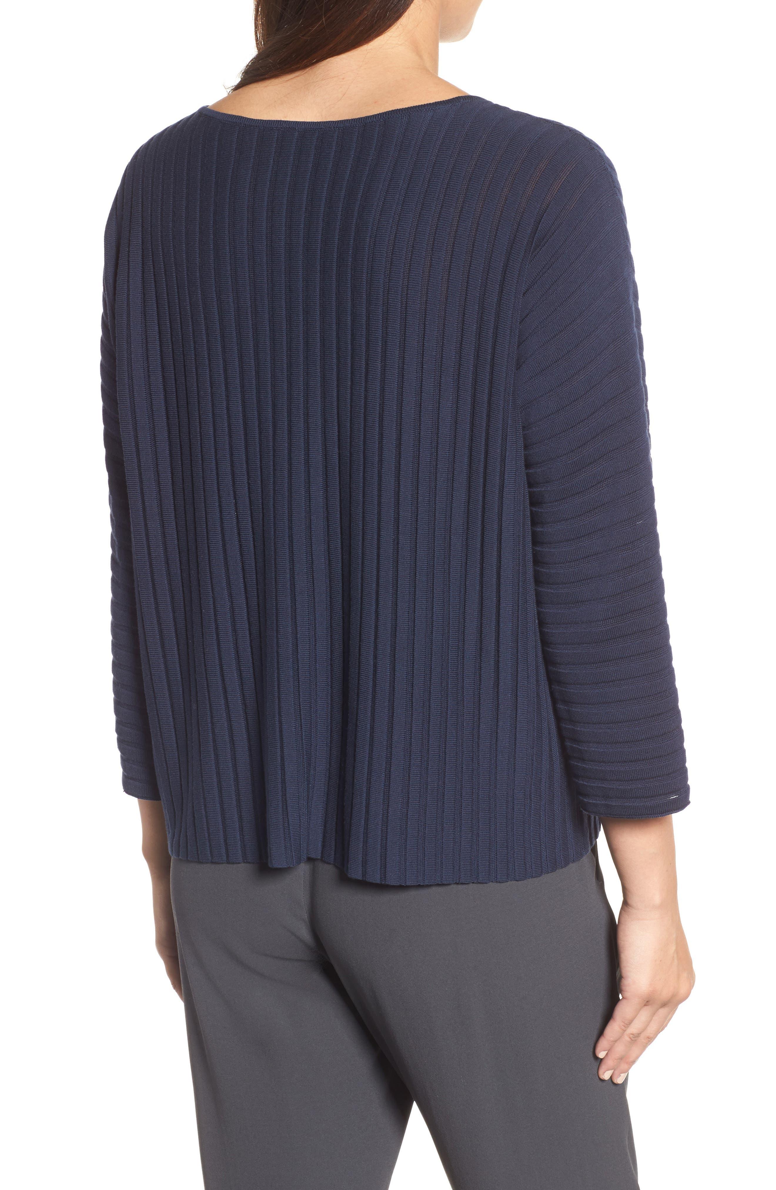 Ribbed Bateau Neck Sweater,                             Alternate thumbnail 8, color,