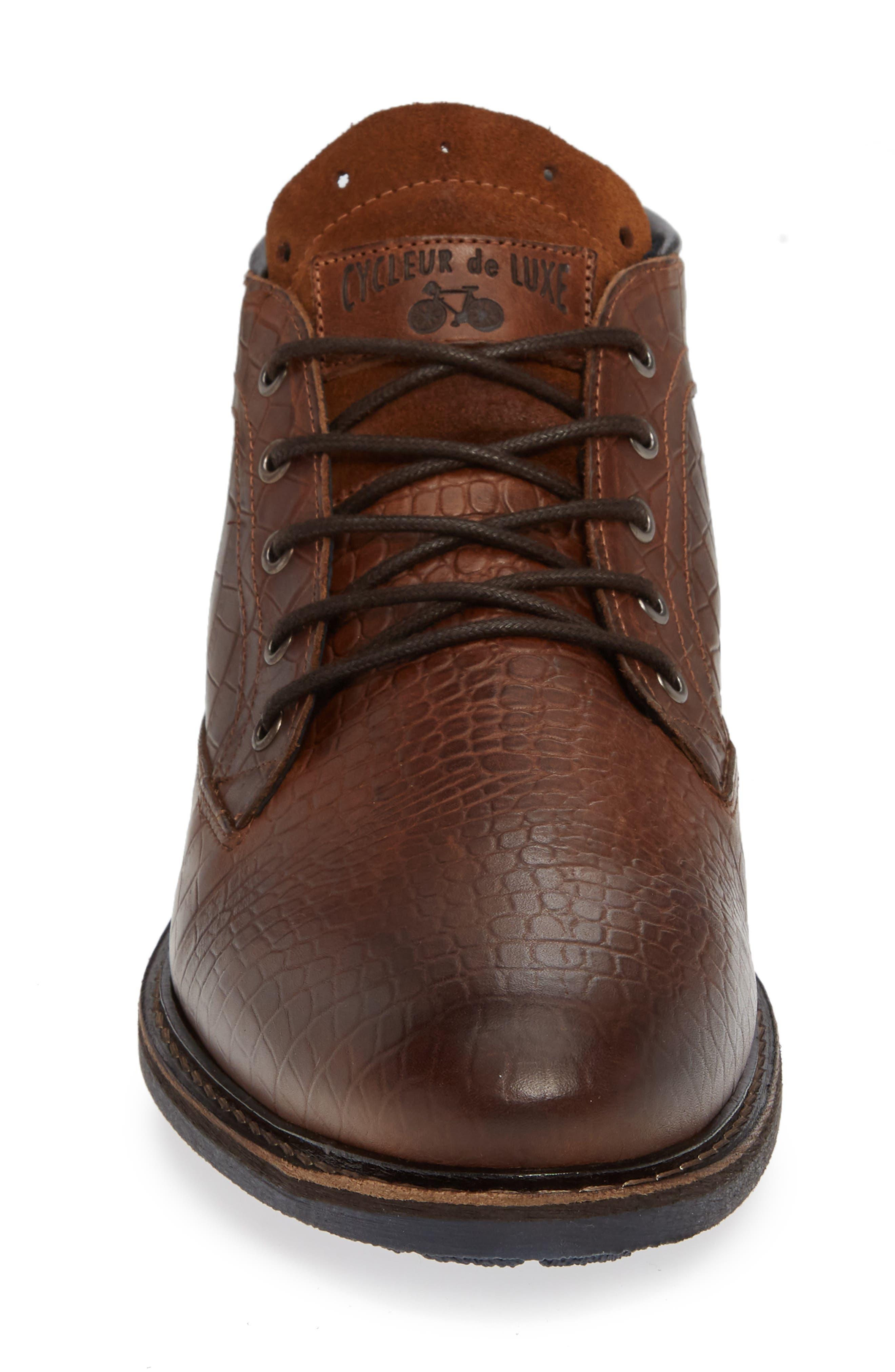 Manton Plain Toe Boot,                             Alternate thumbnail 4, color,                             COGNAC