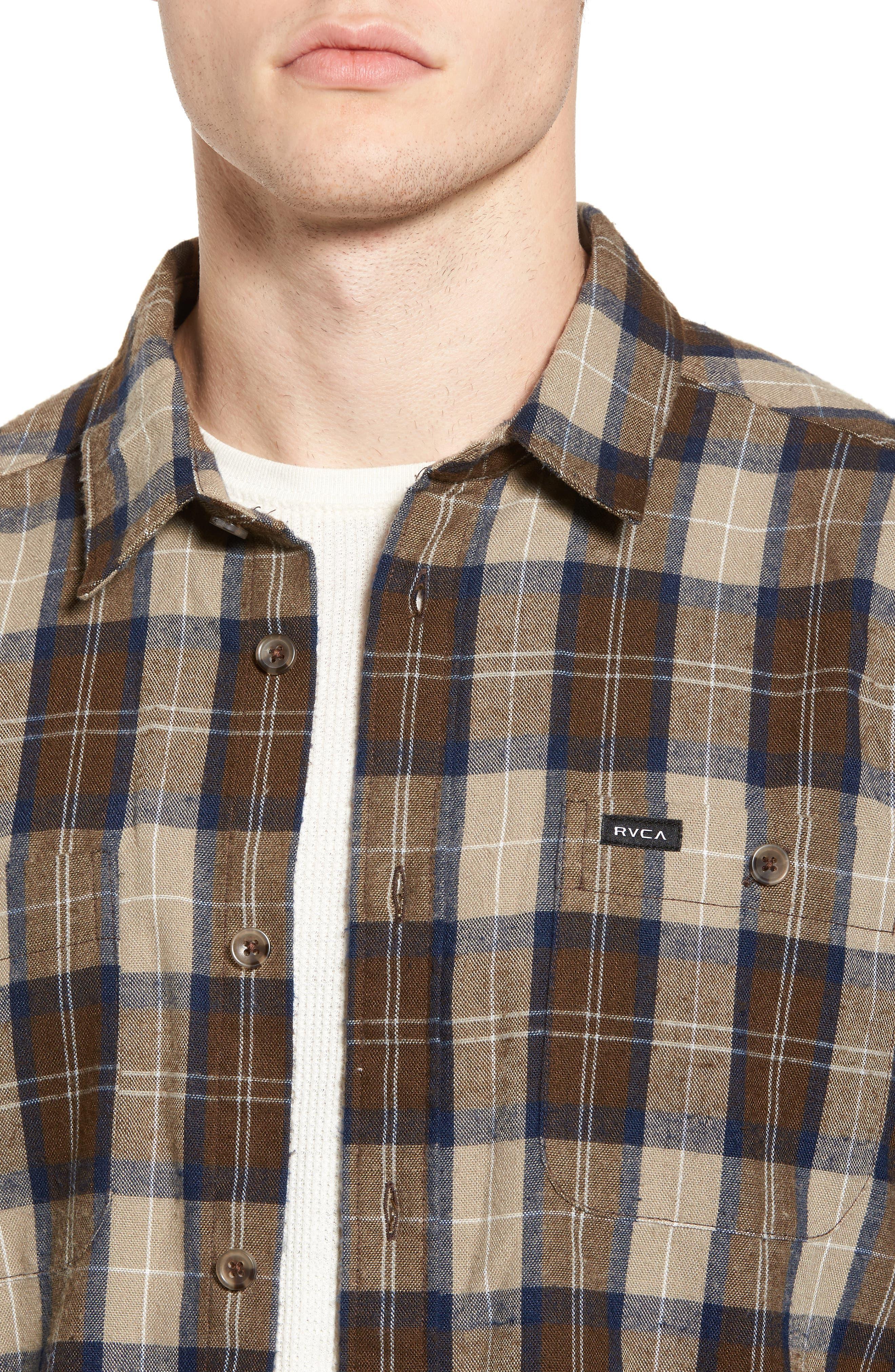 Bone Flannel Shirt,                             Alternate thumbnail 4, color,                             250