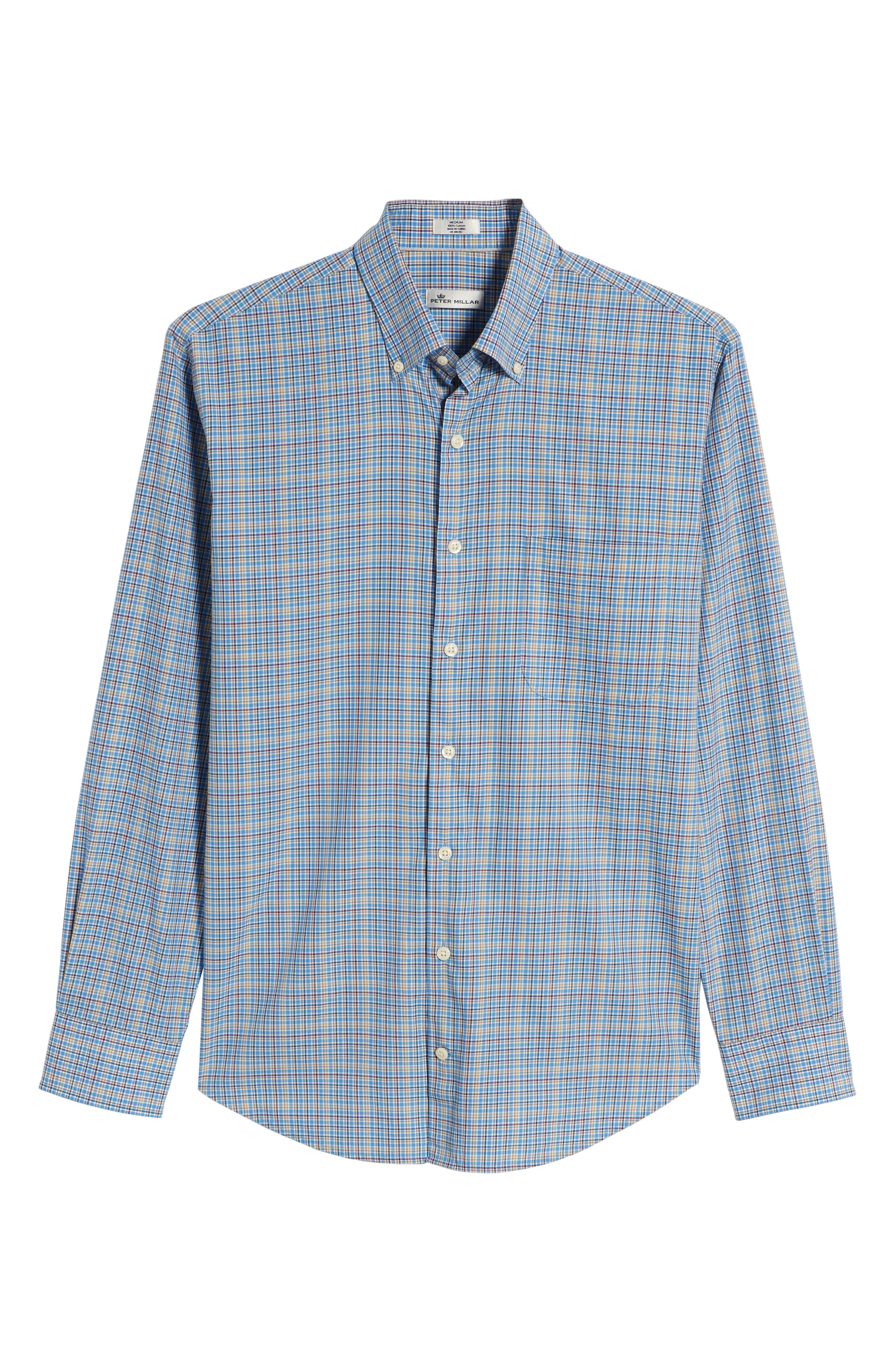 Fremont Regular Fit Multicheck Sport Shirt,                             Alternate thumbnail 6, color,                             485