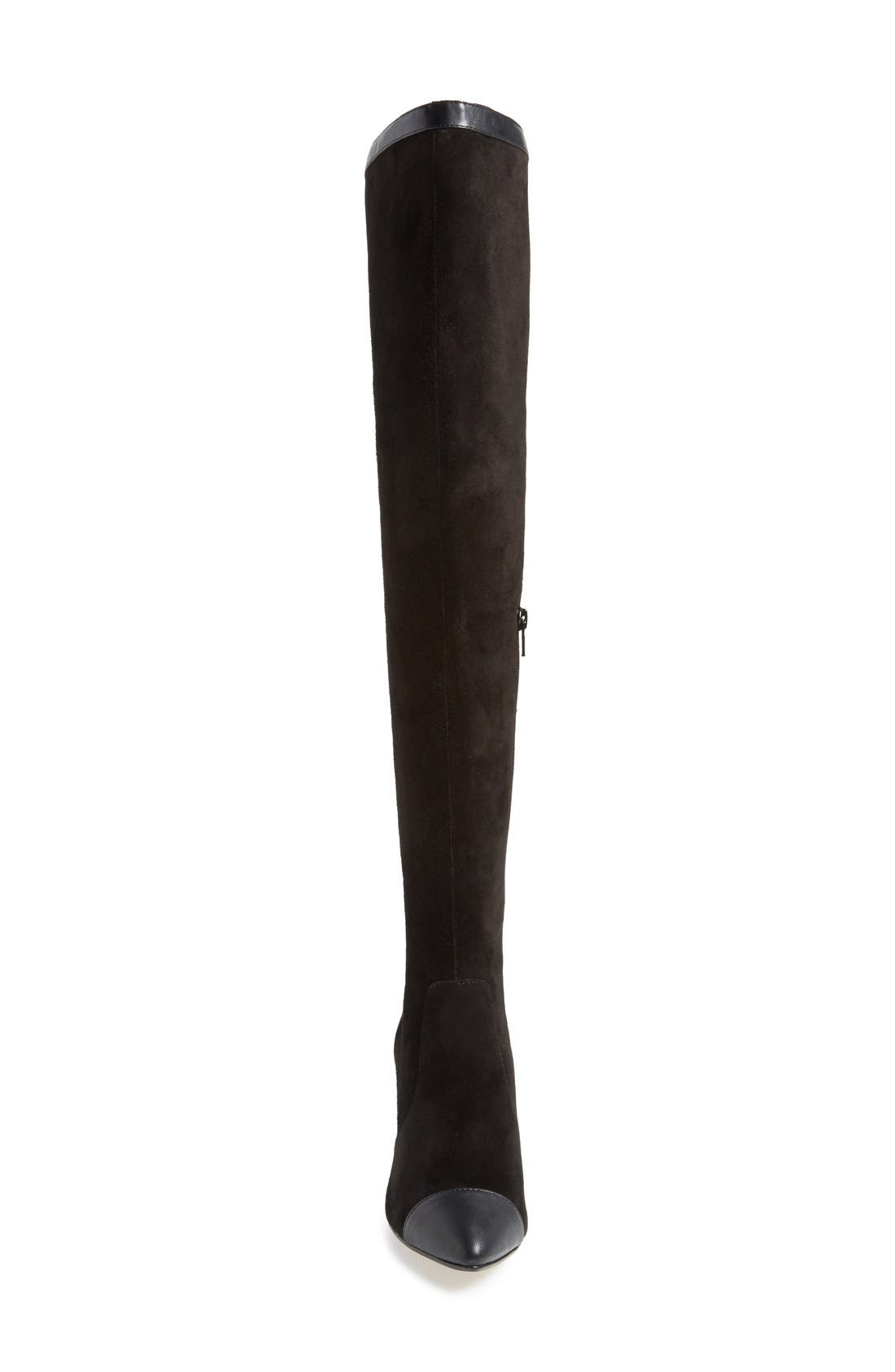 'Allure' Over The Knee Boot,                             Alternate thumbnail 3, color,                             001