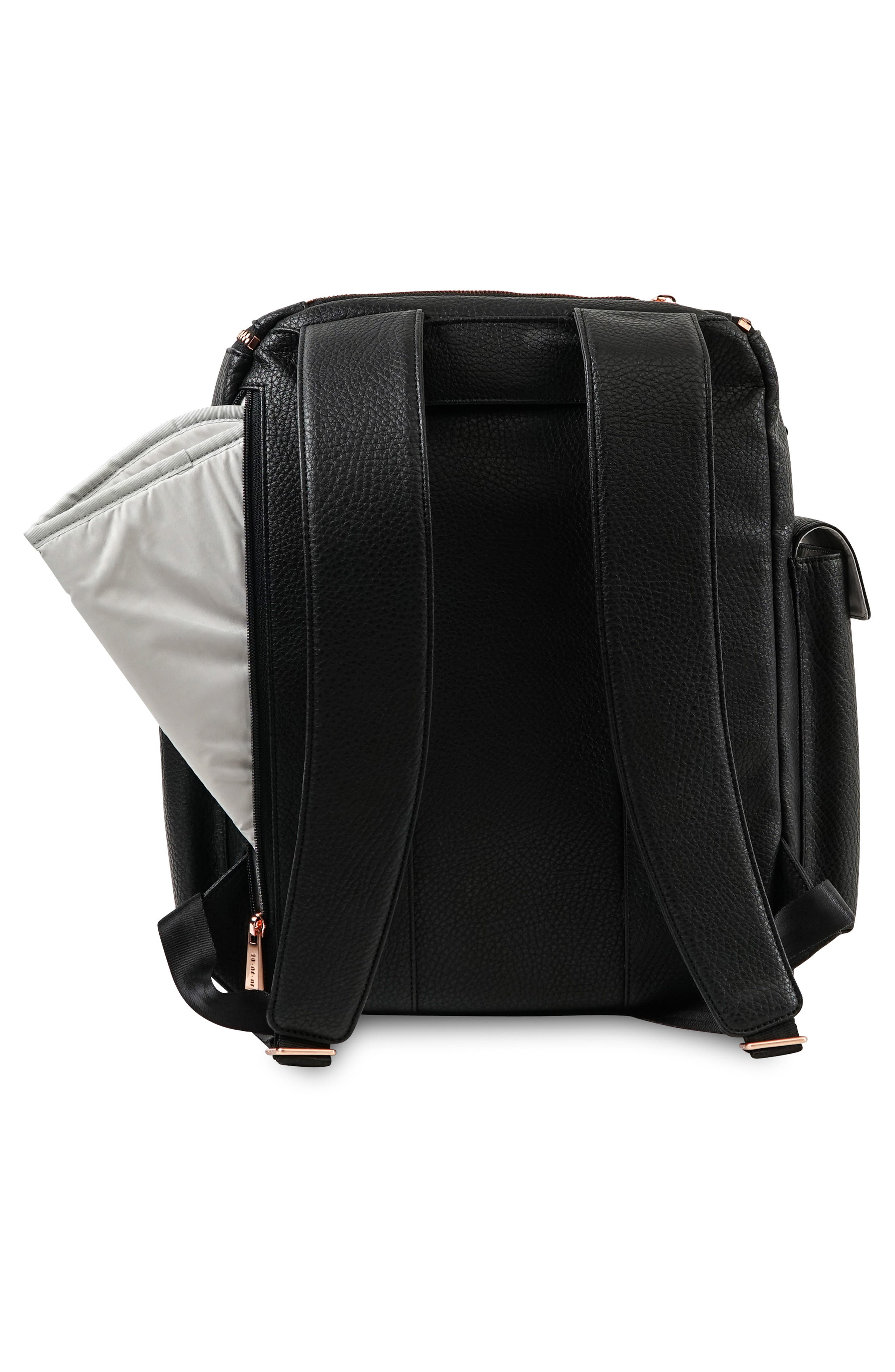 Ever Collection Forever Faux Leather Diaper Backpack,                             Alternate thumbnail 2, color,                             NOIR NEW