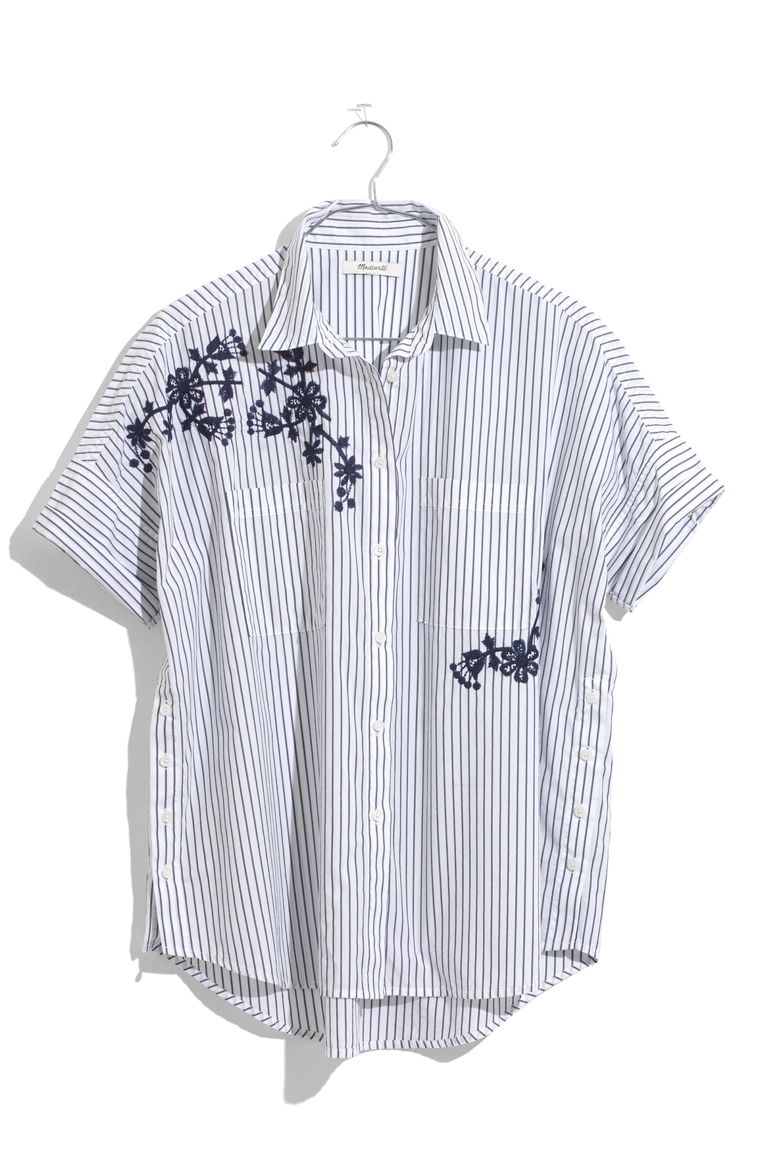 Embroidered Courier Shirt,                             Alternate thumbnail 4, color,                             020