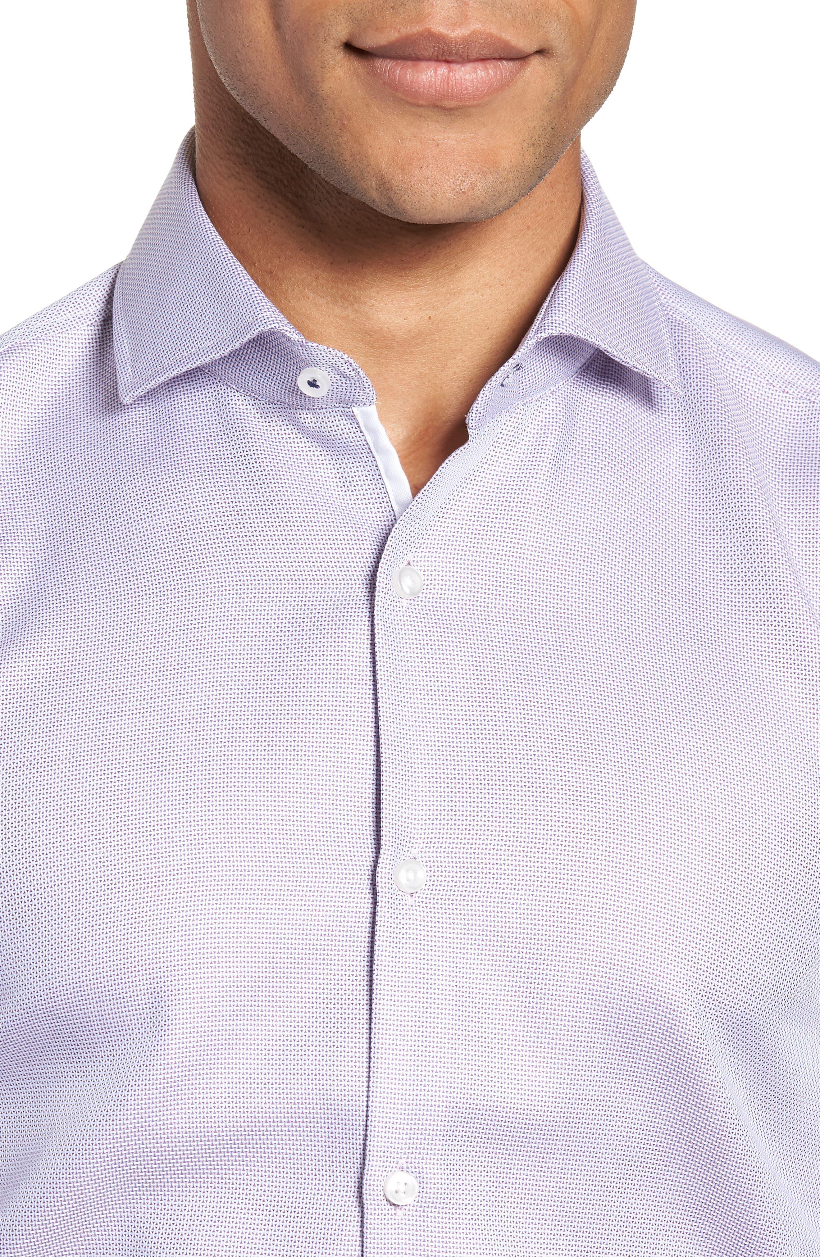 x Nordstrom Jerrin Slim Fit Solid Dress Shirt,                             Alternate thumbnail 2, color,                             LAVENDER