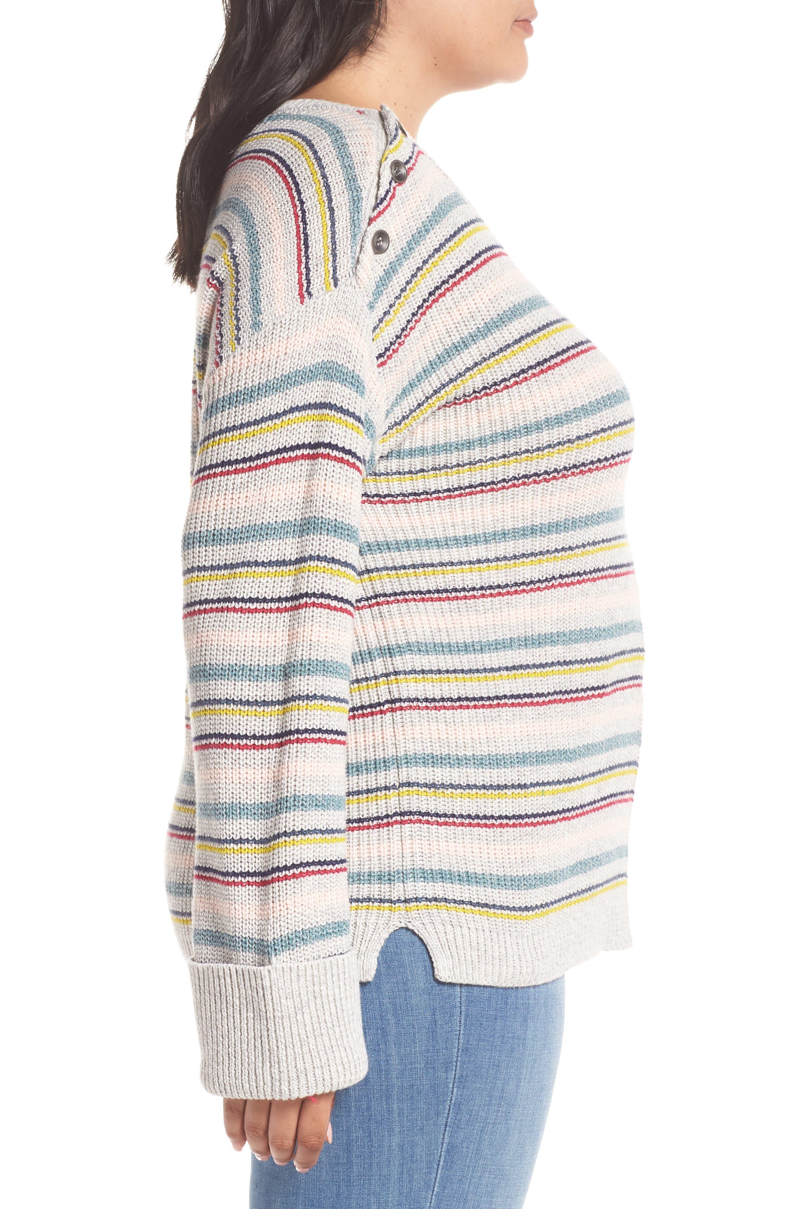 Button Shoulder Sweater,                             Alternate thumbnail 3, color,                             050