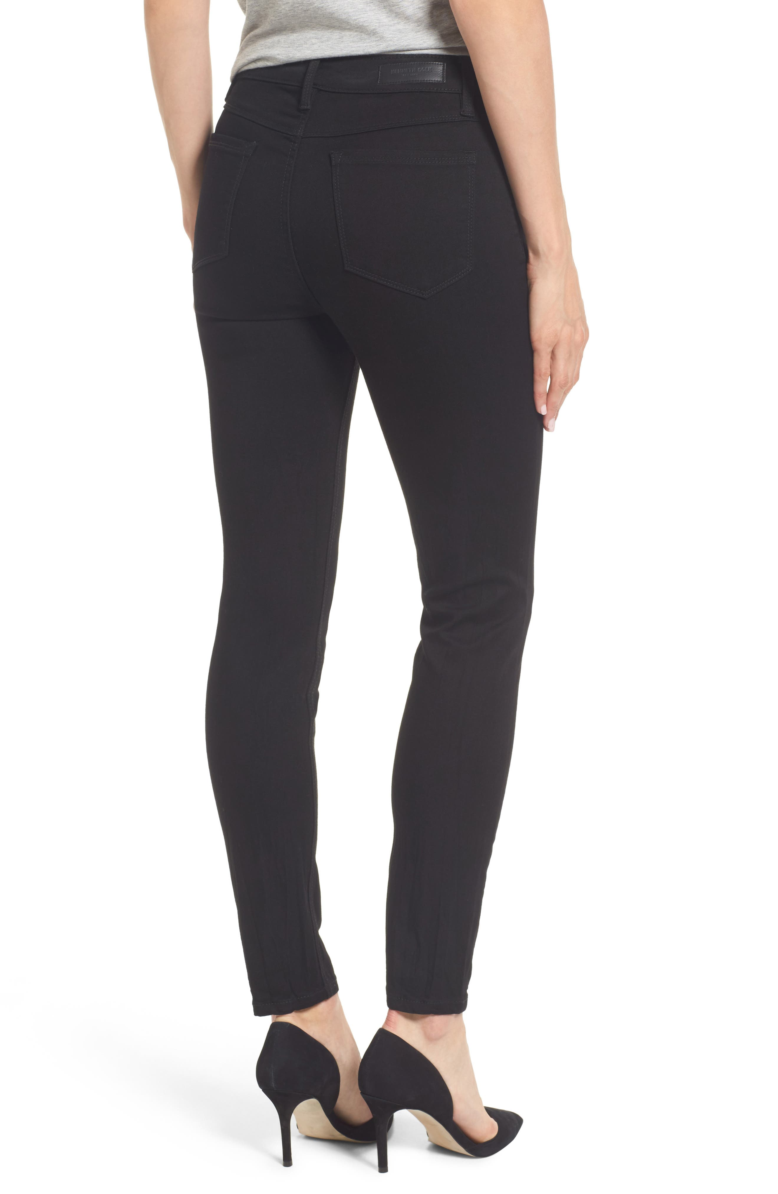 Skinny Jeans,                             Alternate thumbnail 2, color,                             BLACK